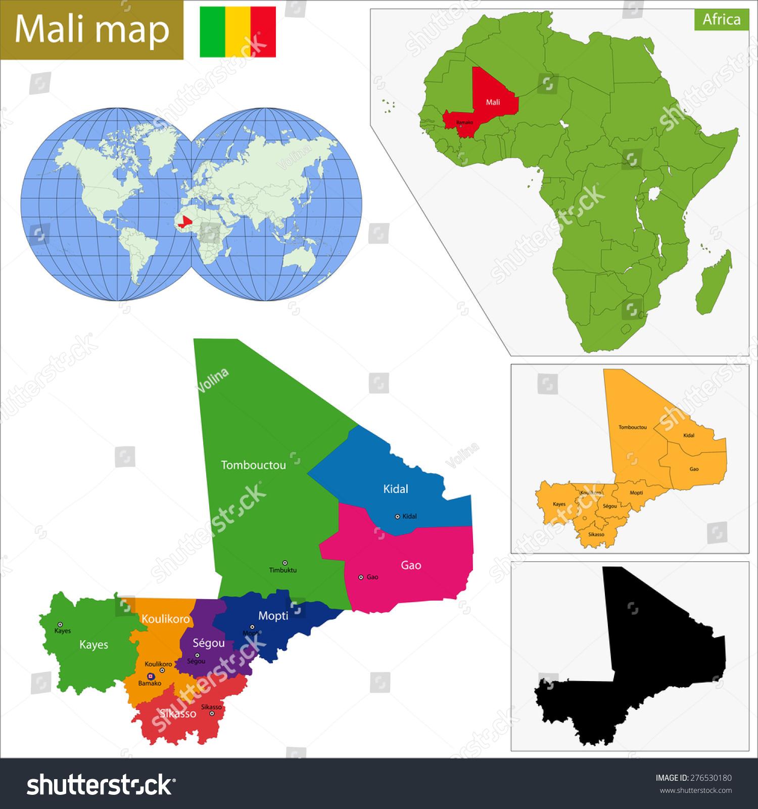 Administrative Division Republic Mali Stock Illustration 276530180