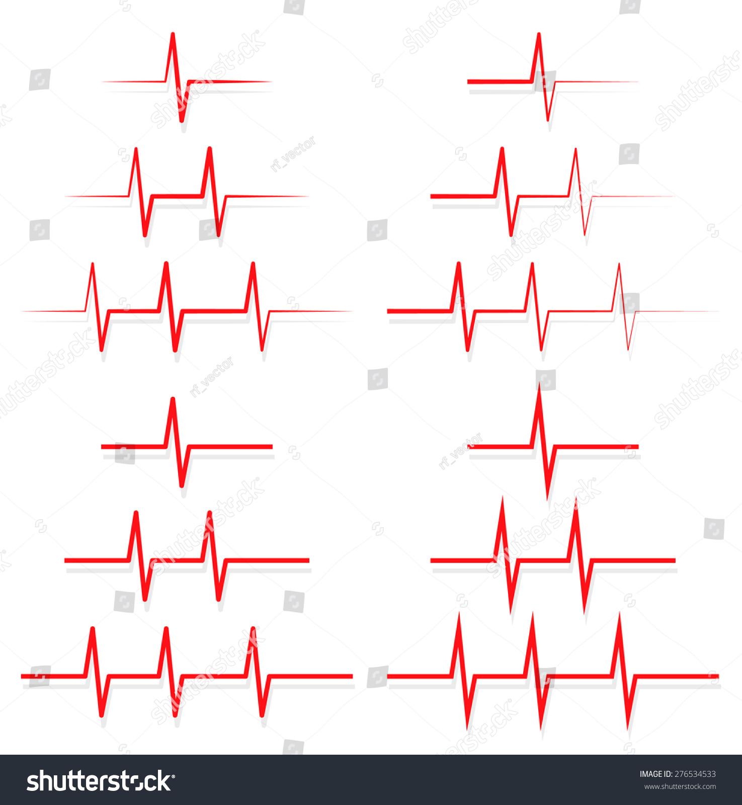 Ecg ekg lines vector stock vector 276534533 shutterstock ecg ekg lines vector pooptronica Images