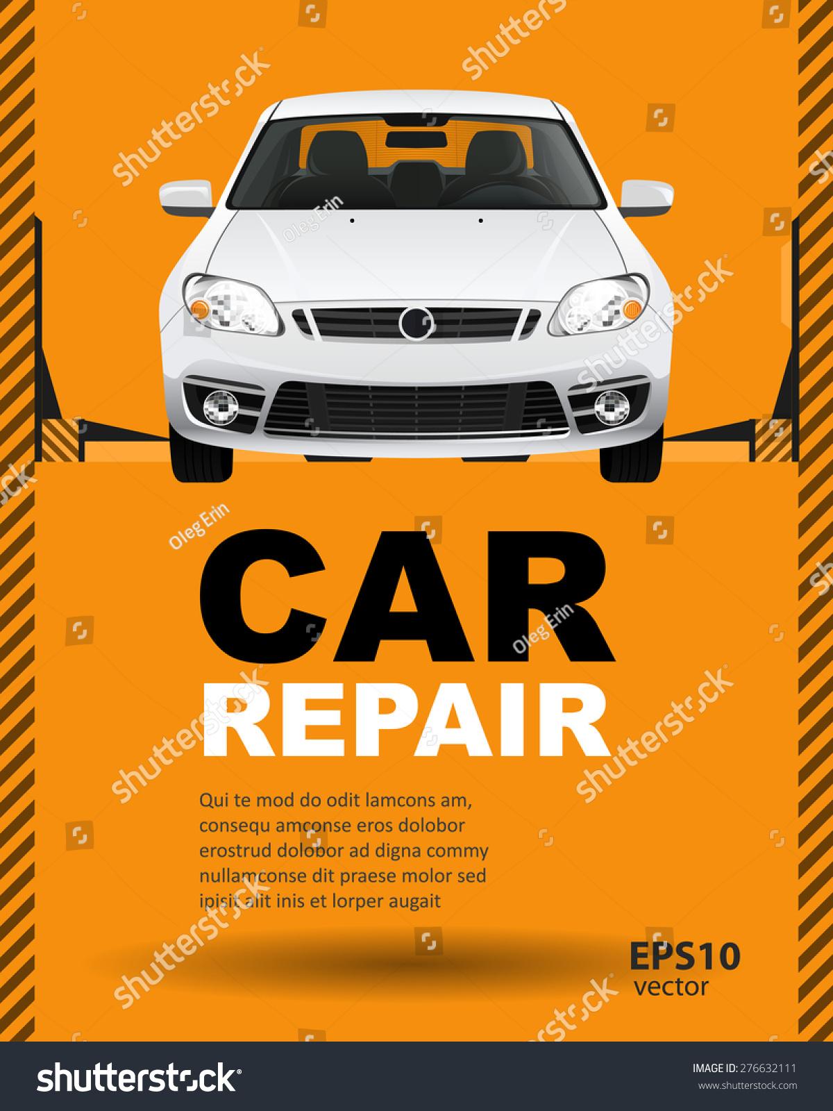 Car Auto Repair Lift Template Layout Stock Vector 276632111 ...