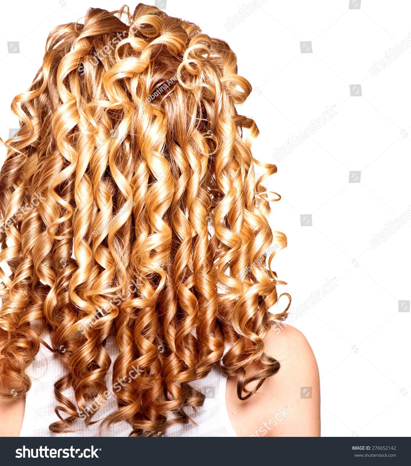 Beauty Girl Blonde Curly Hair Healthy Stock Photo Edit Now