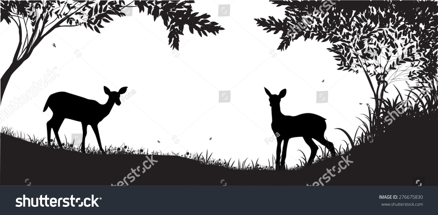 Forest Silhouette Two ...