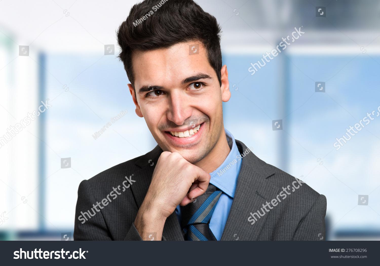 Smiling businessman stockfoto 276708296 shutterstock - Voorbeeld volwassene kamer ...