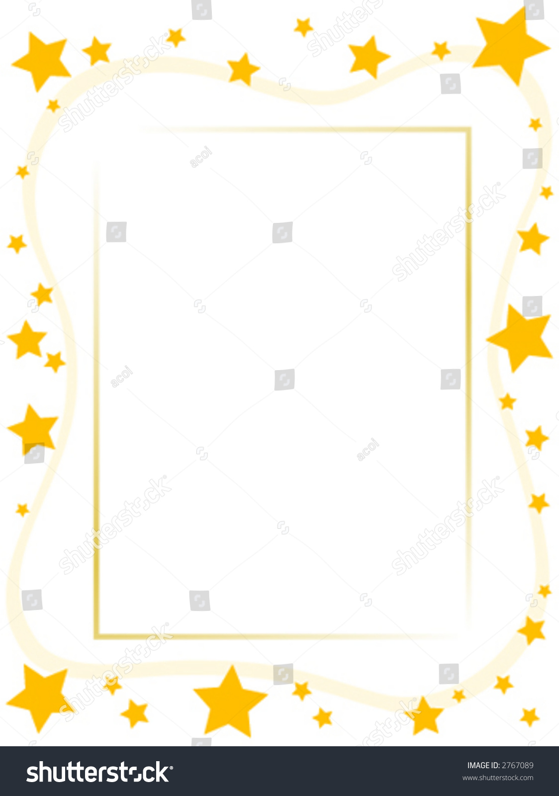 Yellow Star Frame Stock Vector 2767089 - Shutterstock