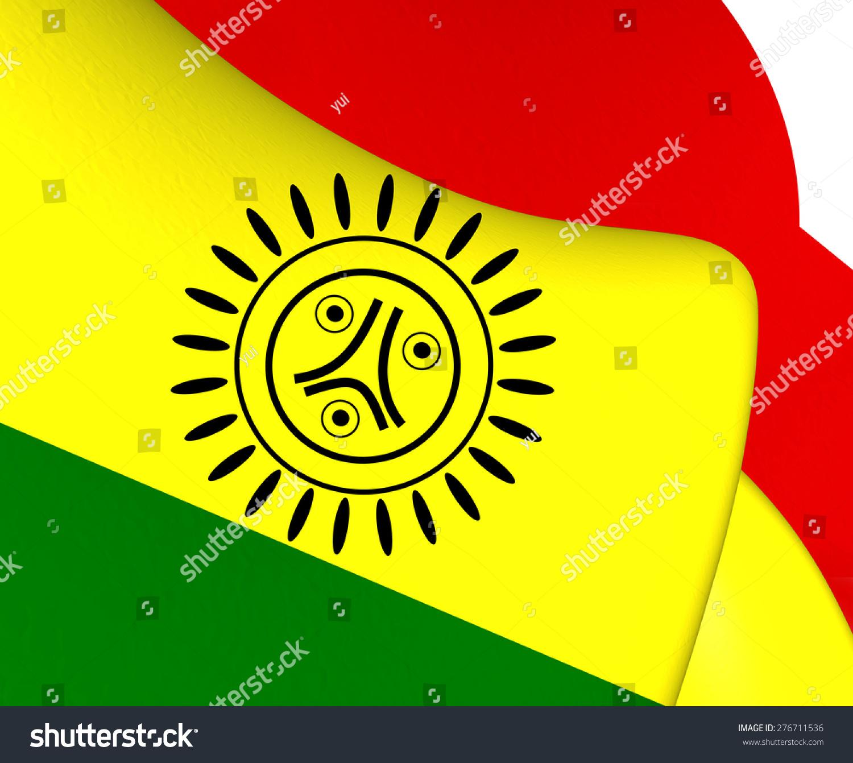 Flag Jatibonicu Taino Tribal Nation Boriken Stock Illustration