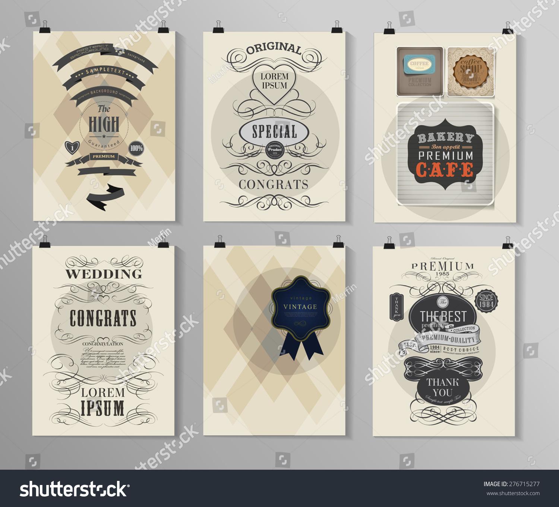 set poster flyer brochure design templates stock vector royalty