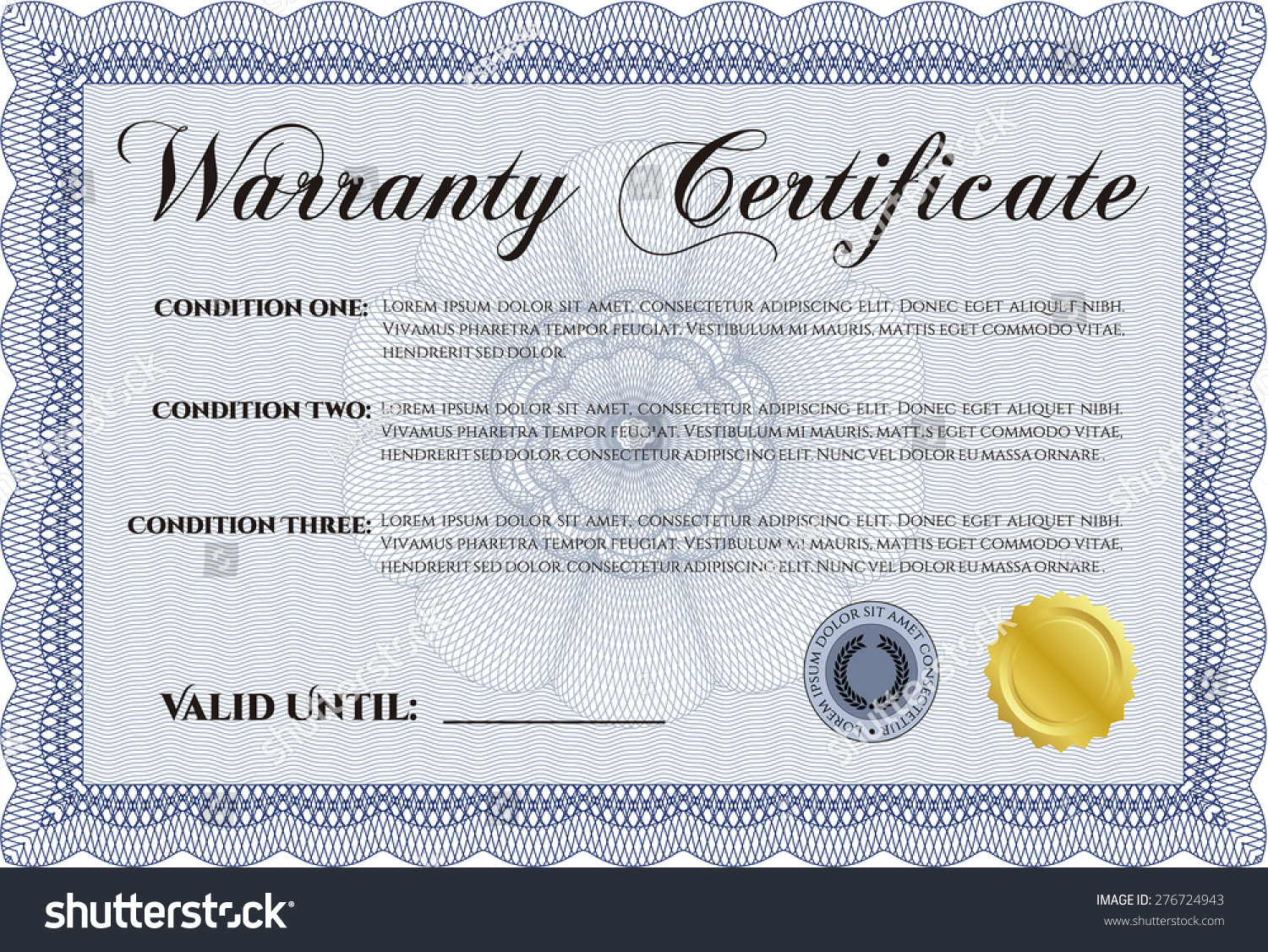 Warranty certificate sample text background perfect stock vector warranty certificate with sample text with background perfect style yadclub Image collections
