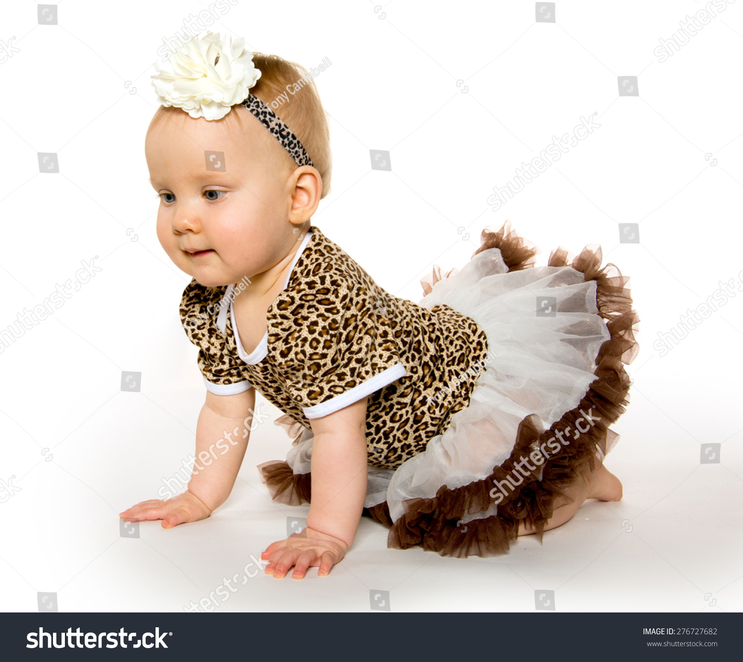 Cute 1yearold Baby Girl Blond Hair Stock Shutterstock
