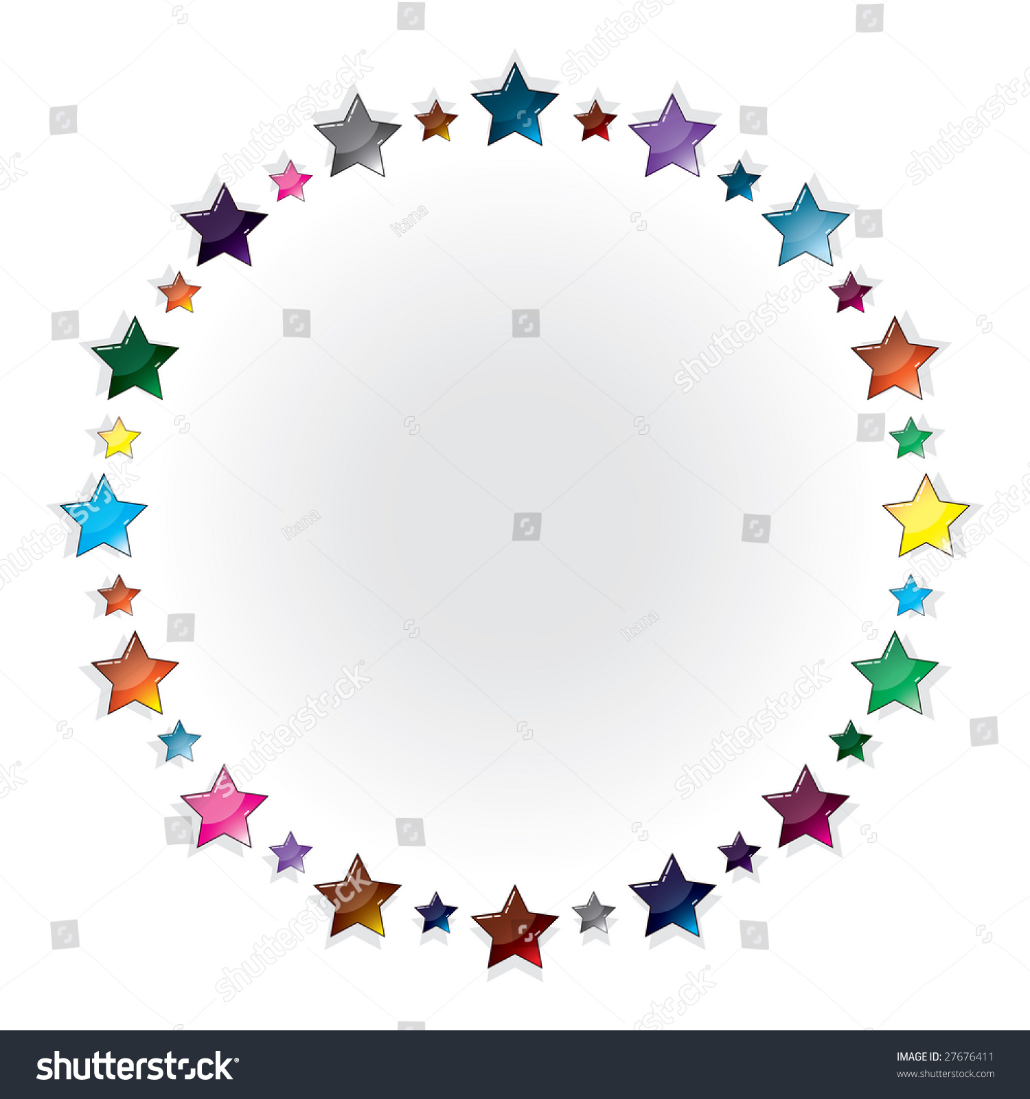 framework of glass multi coloured stars vector version  save to a lightbox