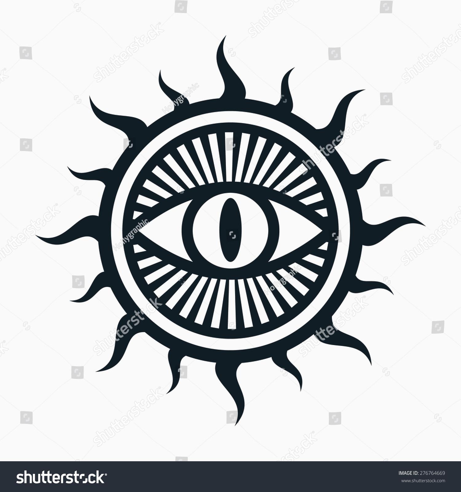 Occult Symbol Eye Sun Symbol Stock Vector Royalty Free 276764669