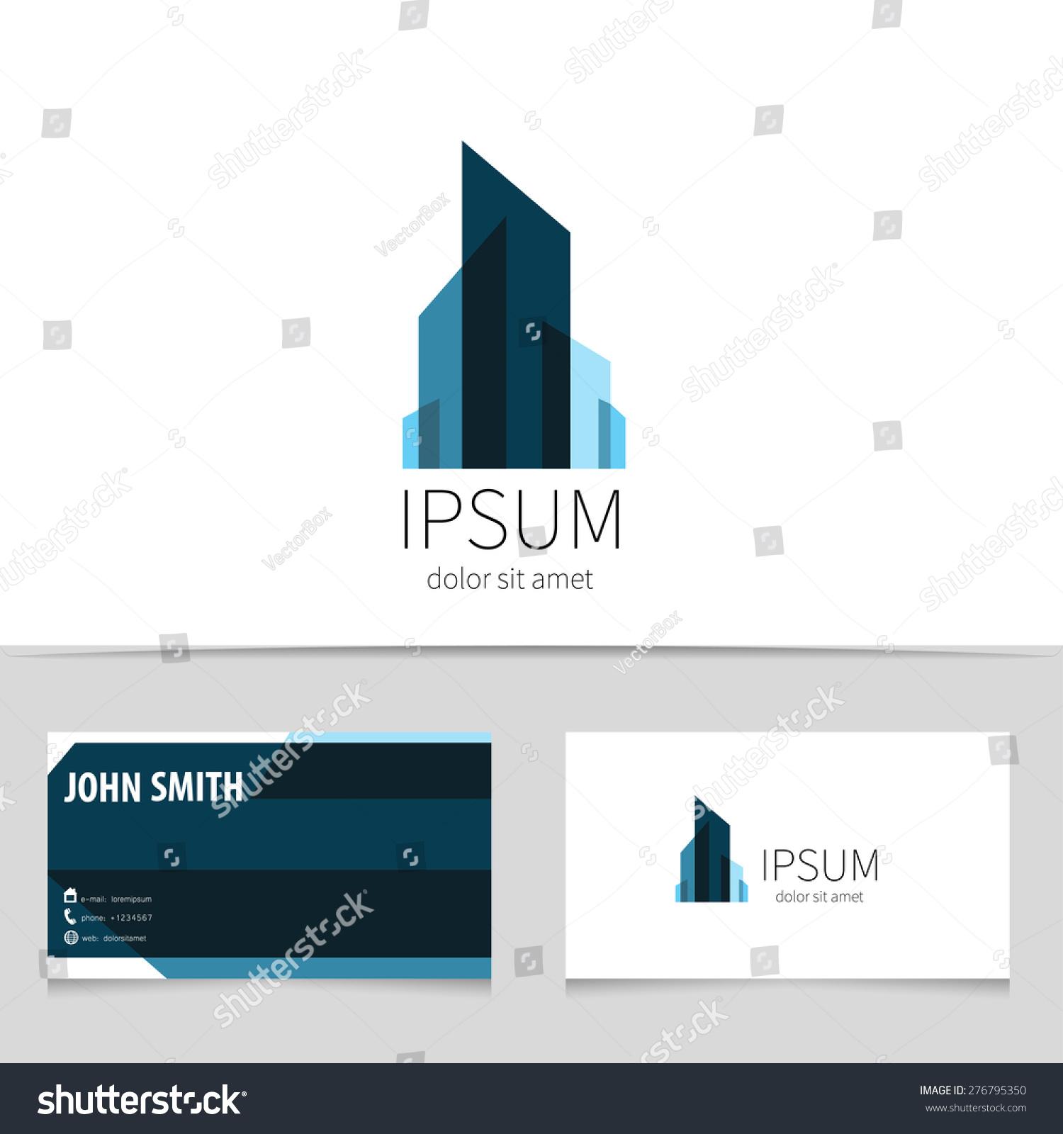creative building logo design business card stock vector