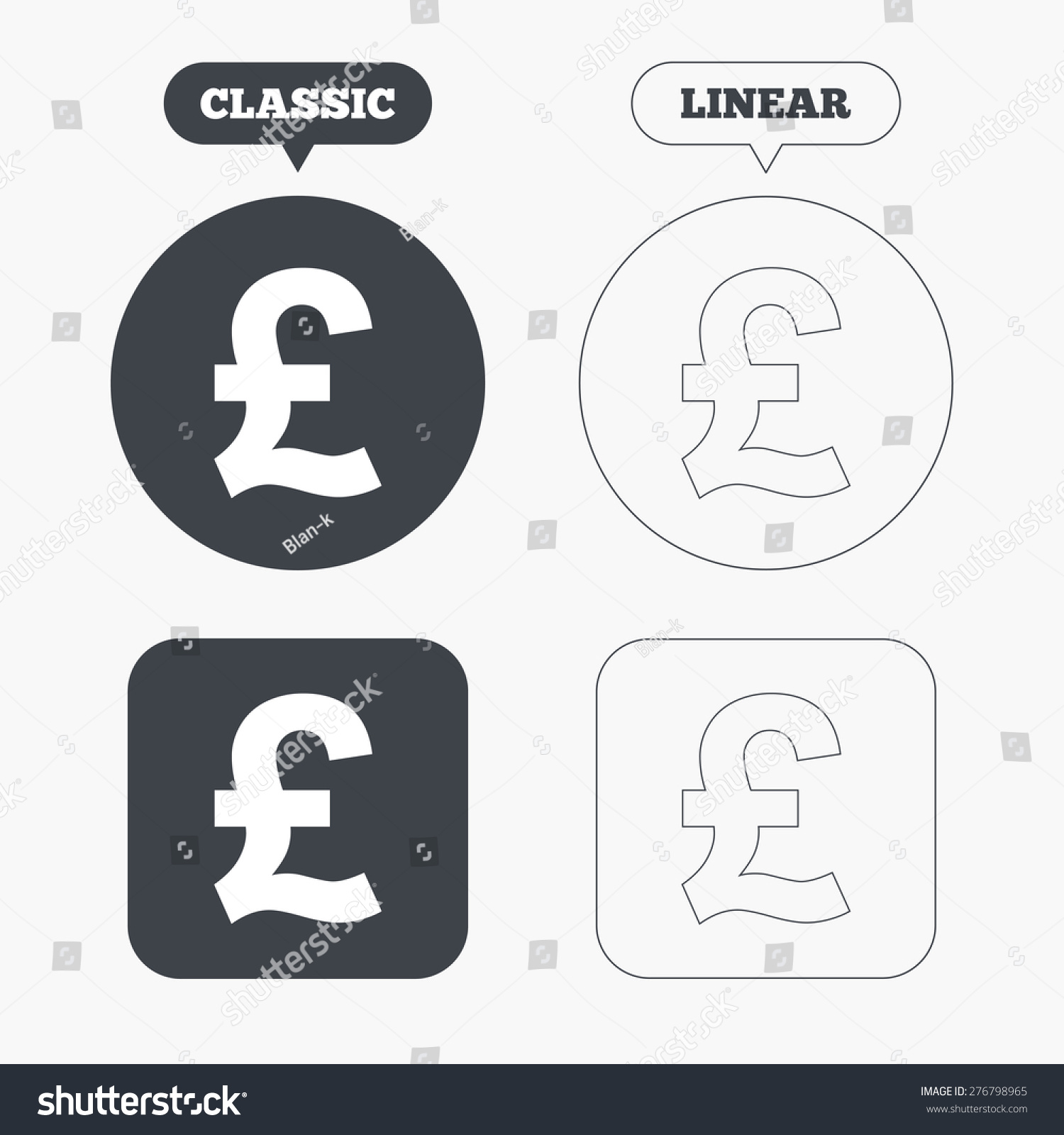 Pound sign icon gbp currency symbol stock vector 276798965 pound sign icon gbp currency symbol money label classic and line web buttons buycottarizona Choice Image