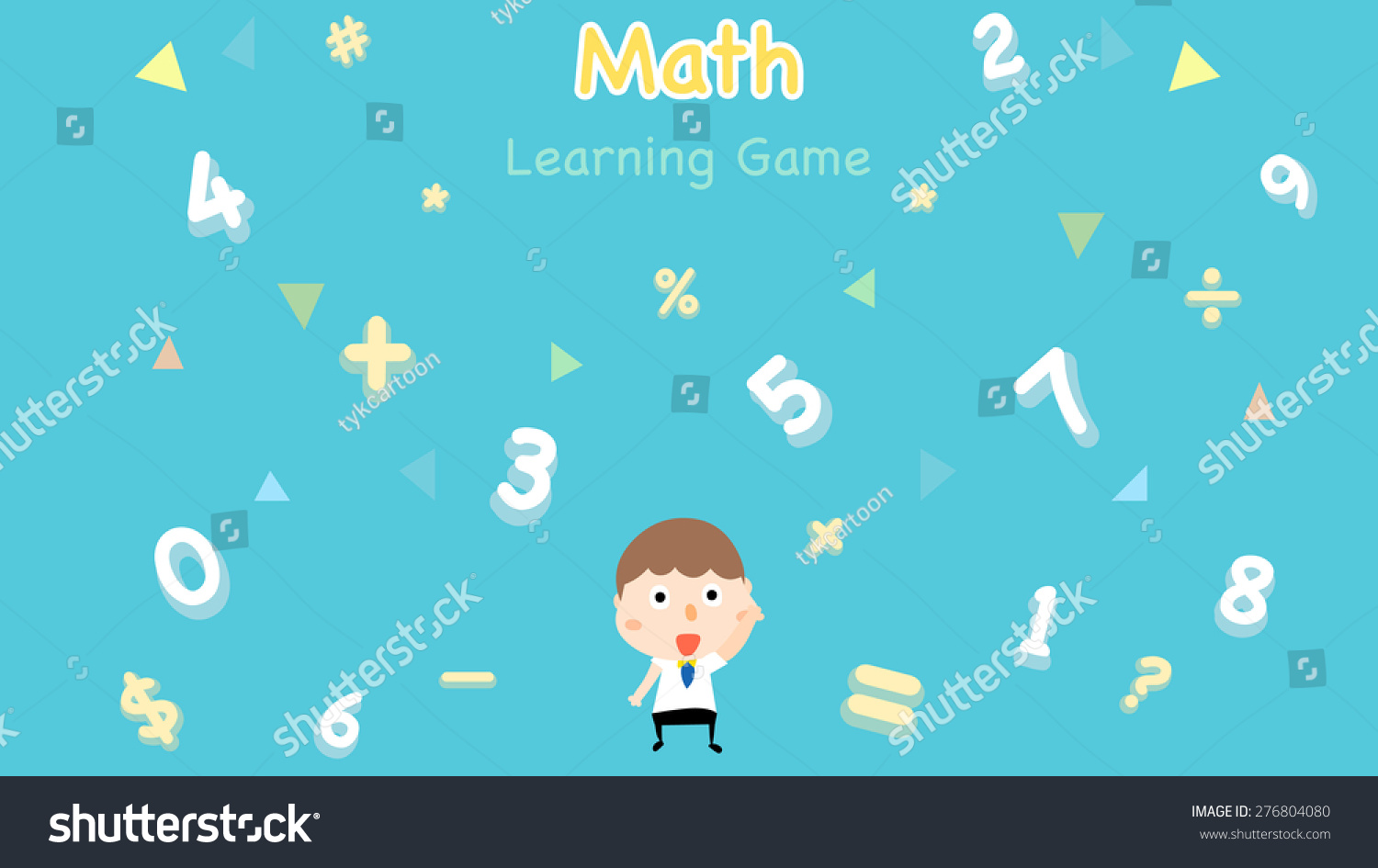 Cartoon Style Math Learning Game Illustration Stock Vector Royalty