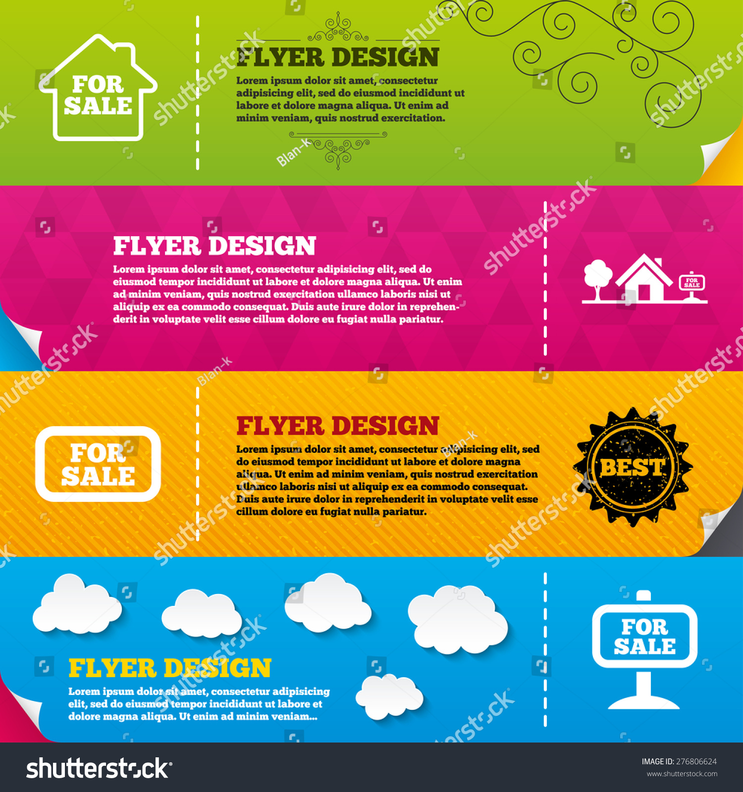 flyer brochure designs icons real stock vector  flyer brochure designs for icons real estate selling signs home house symbol