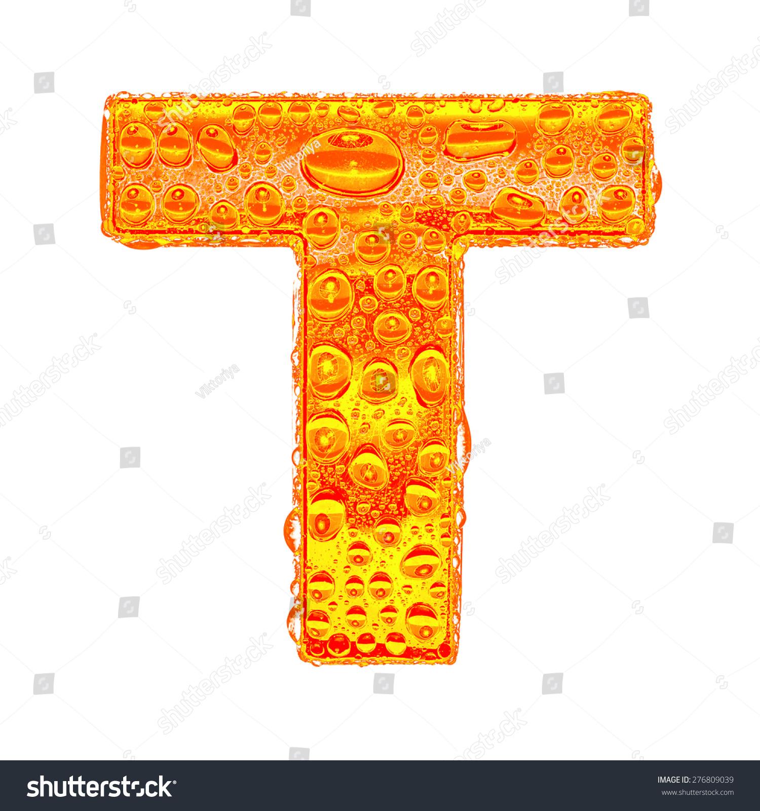 Fresh Orange Alphabet Symbol Letter T Stock Illustration 276809039