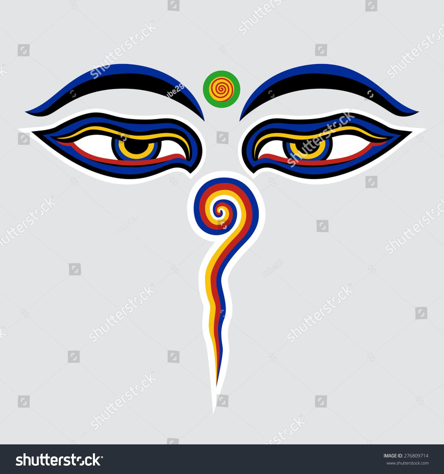 Stock vector illustration buddha eyes nepal stock vector 276809714 stock vector illustration buddha eyes of the nepal biocorpaavc Images