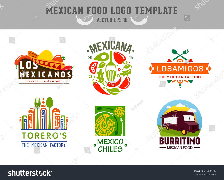 Mexican food logo vector logo design stock vector for Mexican logos images