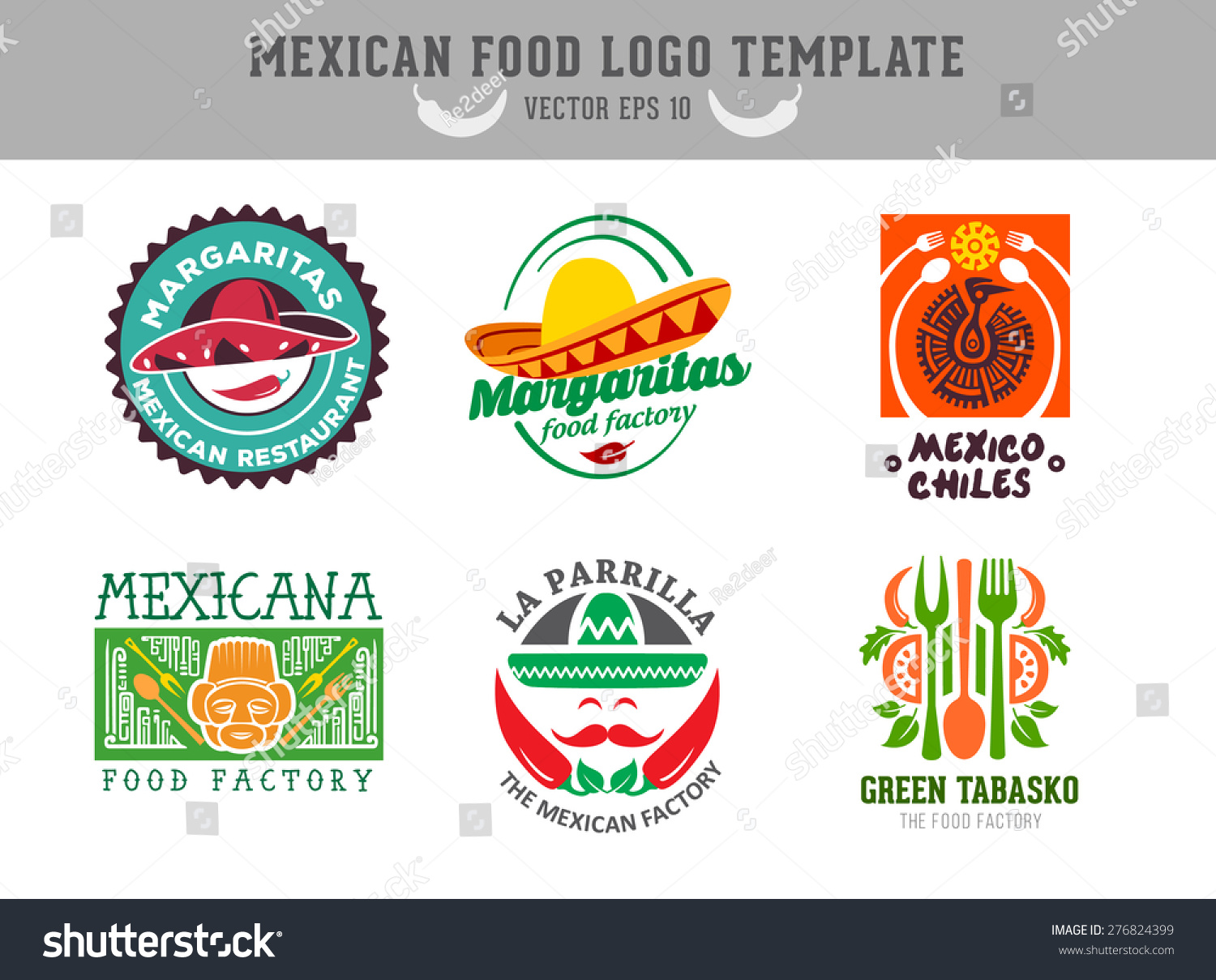 Mexican food logo vector template 276824399 shutterstock for Mexican logos pictures