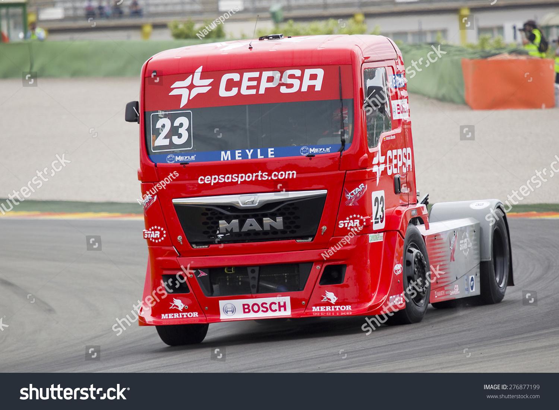 Albacete Circuit : Valencia spain april 25 european truck stock photo royalty free