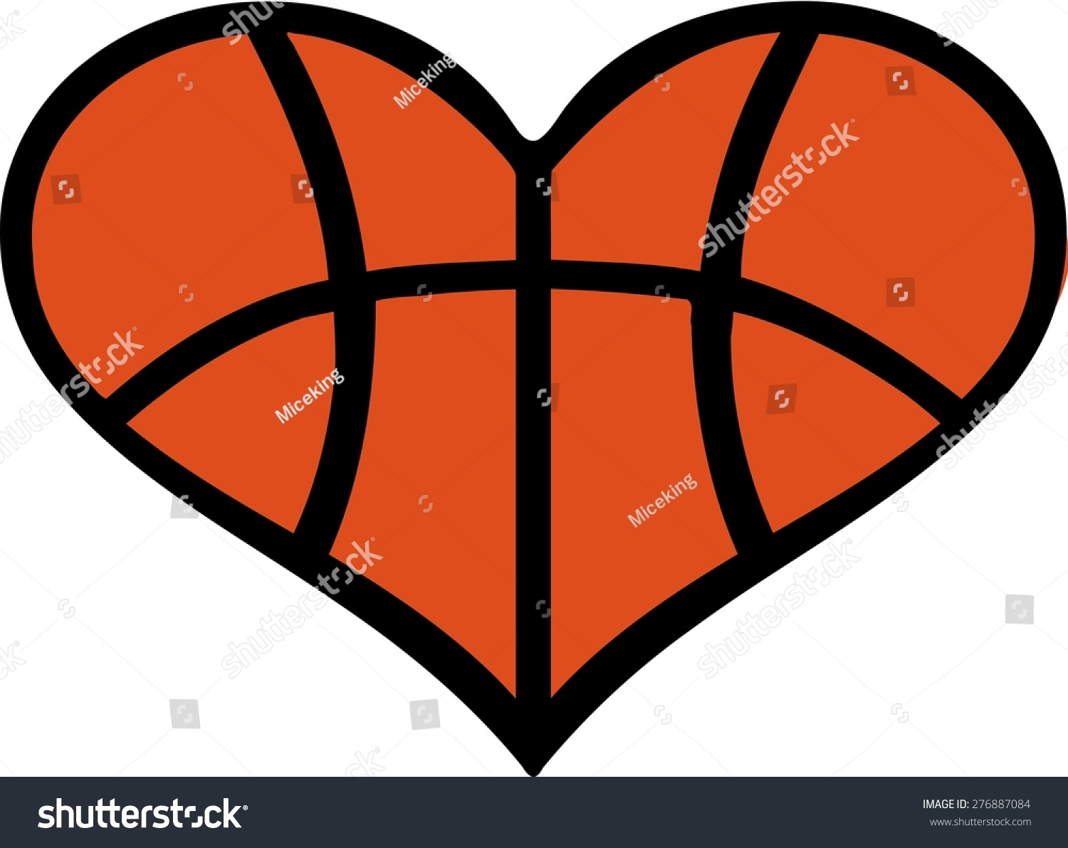 Heartbeat Pattern Heartbeat Vector Pattern Vector: Heart Basketball Pattern Stock Vector 276887084