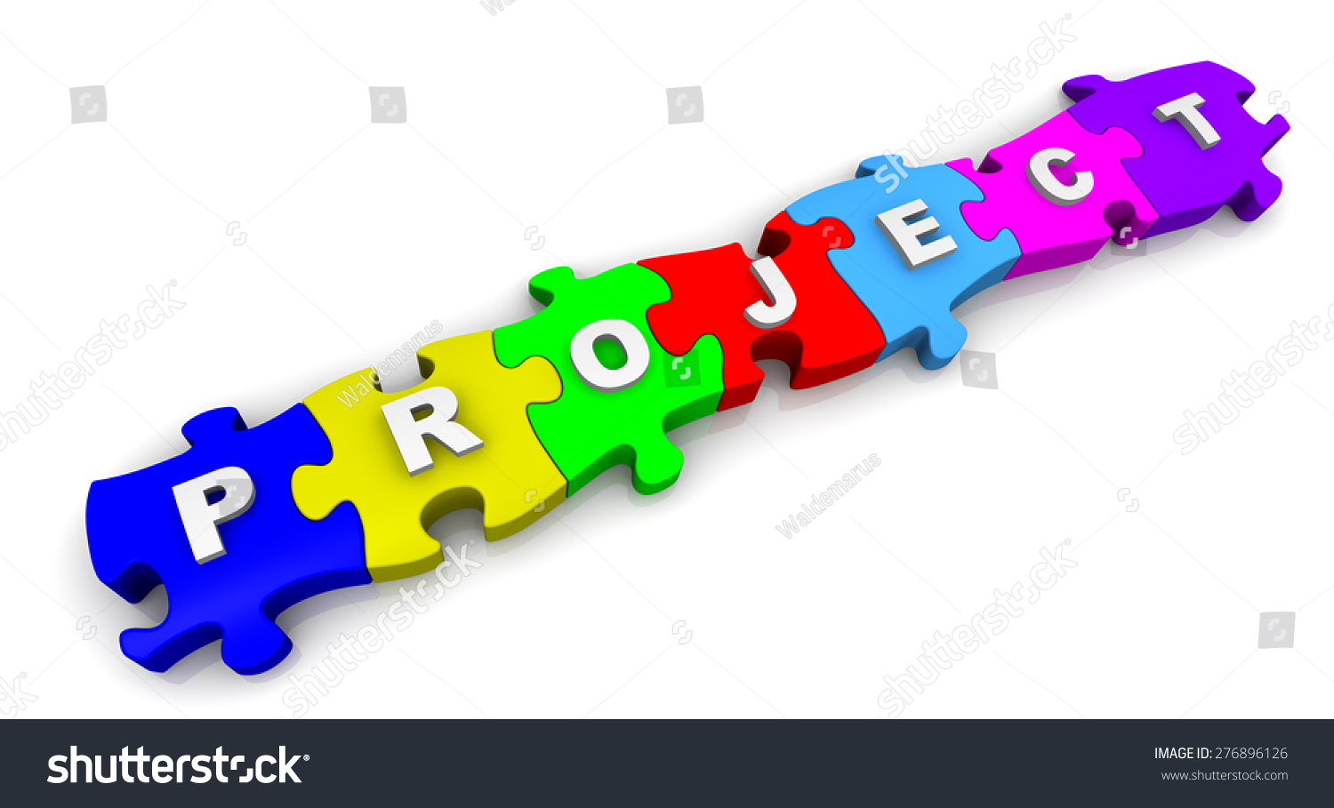 Project Word On Puzzles Word Project Stock Illustration 276896126 ...