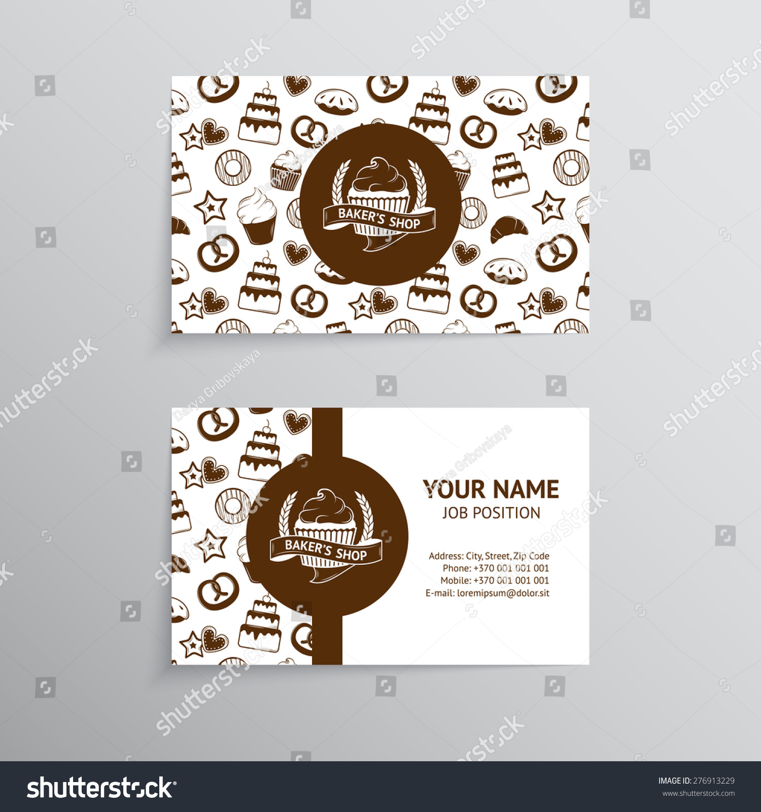 Vector Vintage Business Card Design Template Stock Vector 276913229 ...