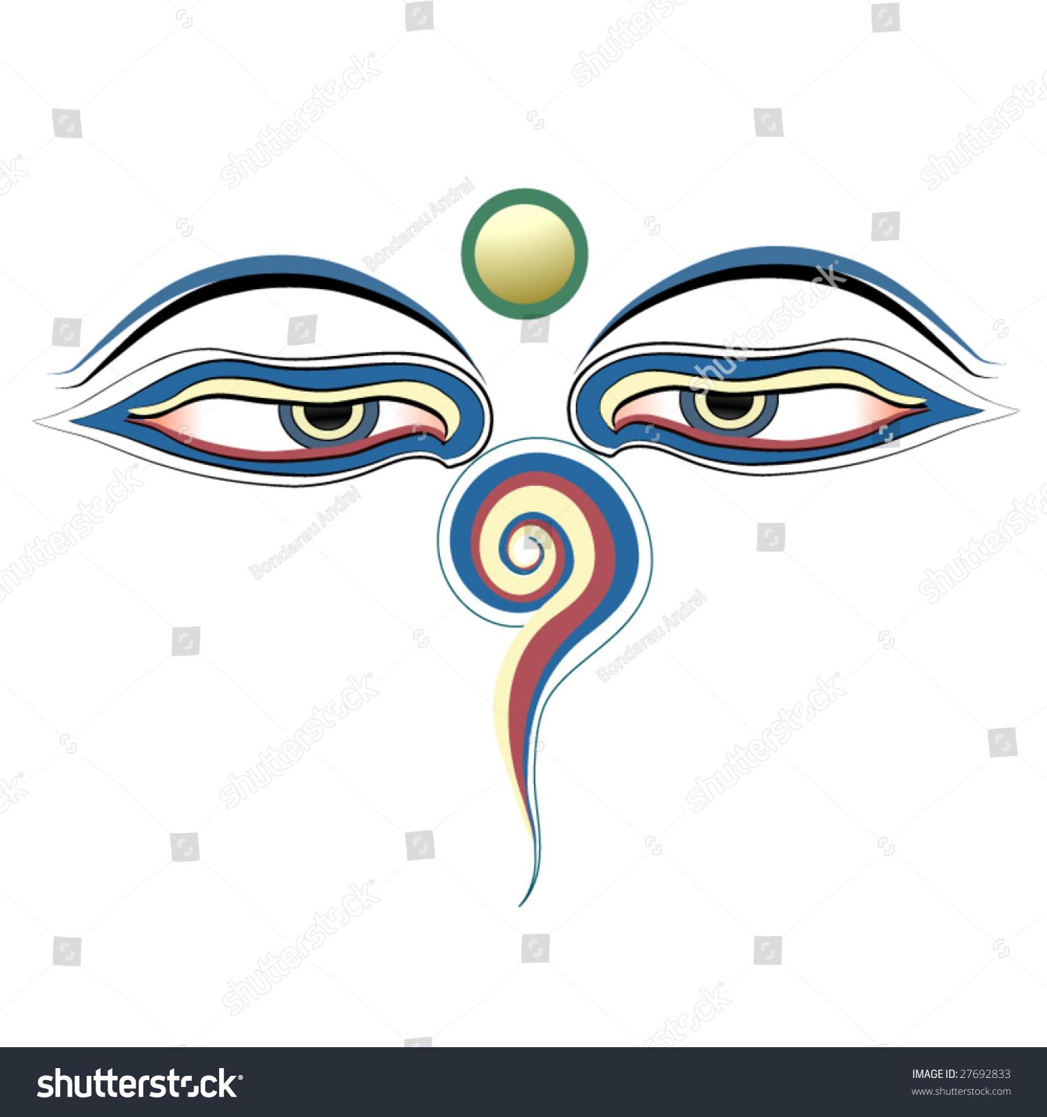 Buddha eyes vector stock vector 27692833 shutterstock buddha eyes vector biocorpaavc Images