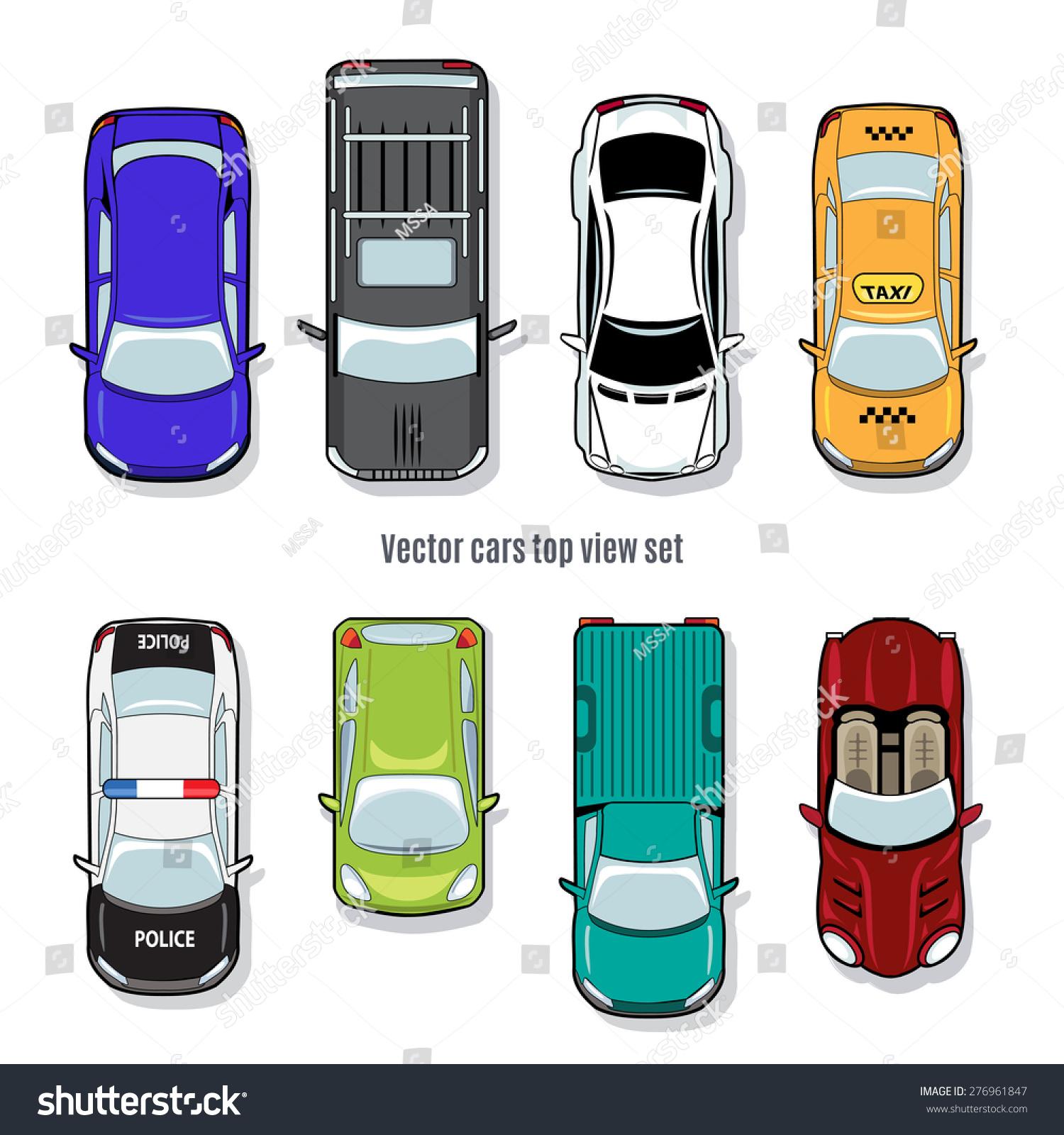 set vector cars top view automobile stock vector 276961847