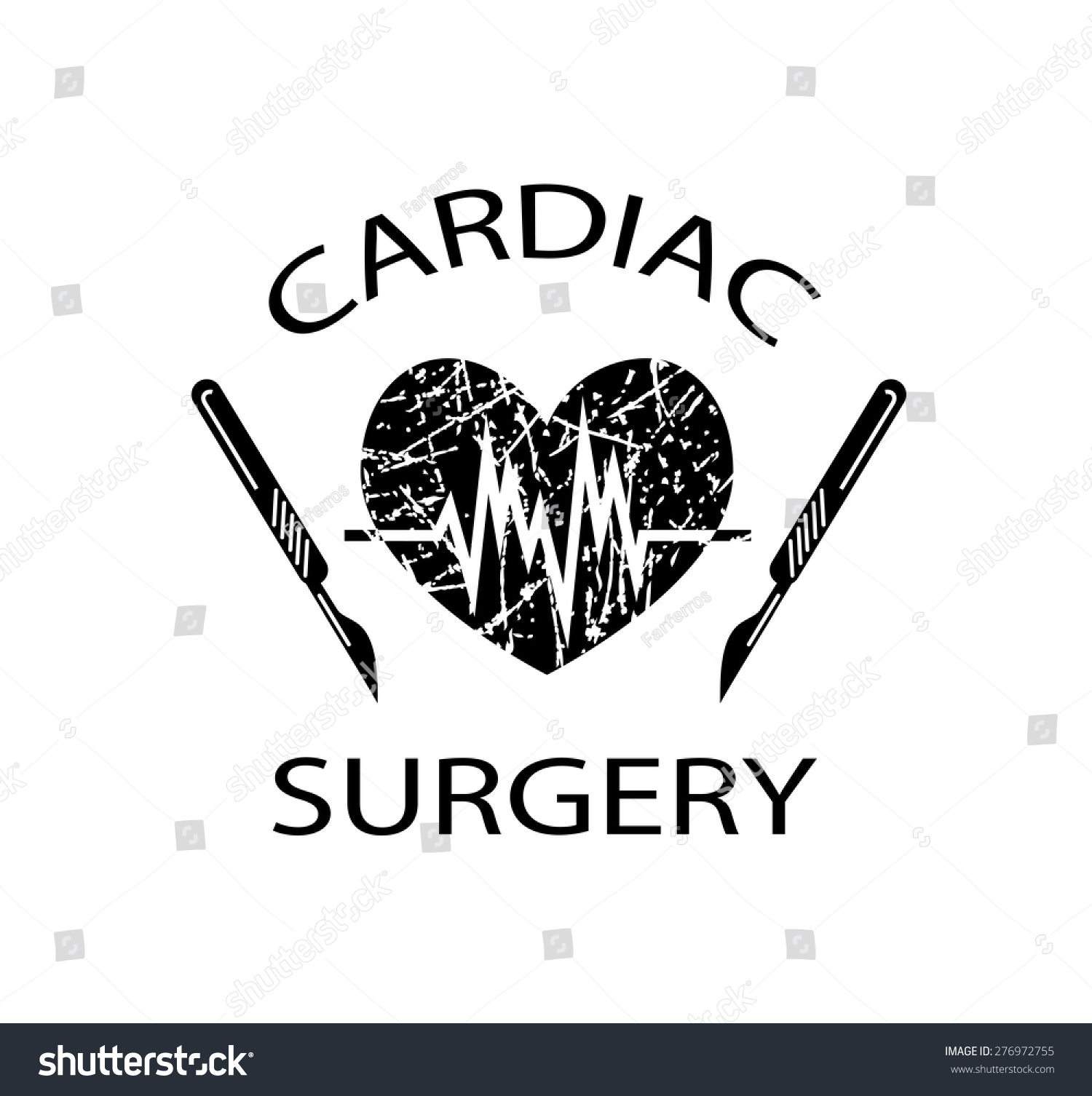Vector Drawing Medical Symbol Cardiac Surgery Stock Vector Royalty Free 276972755