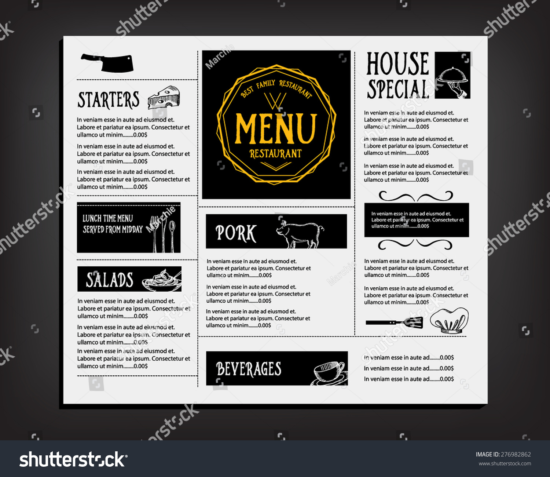 Cafe Menu Template Eliolera – Cafe Menu Templates Free Download