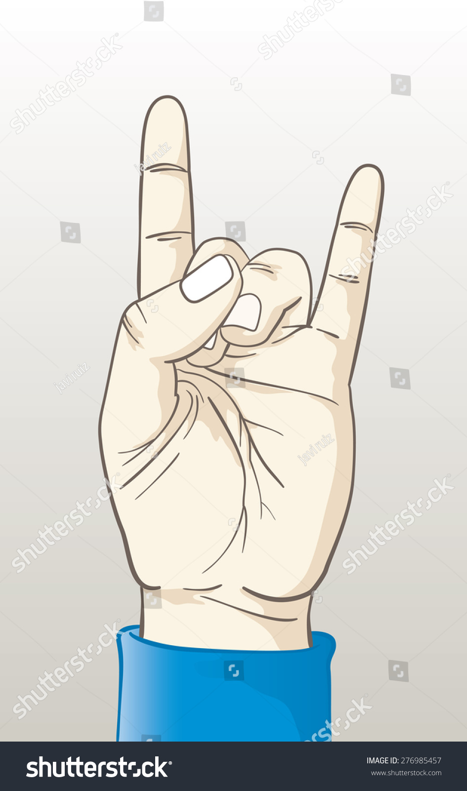 Royalty Free Rock And Roll Hand Gesture Vector 276985457 Stock
