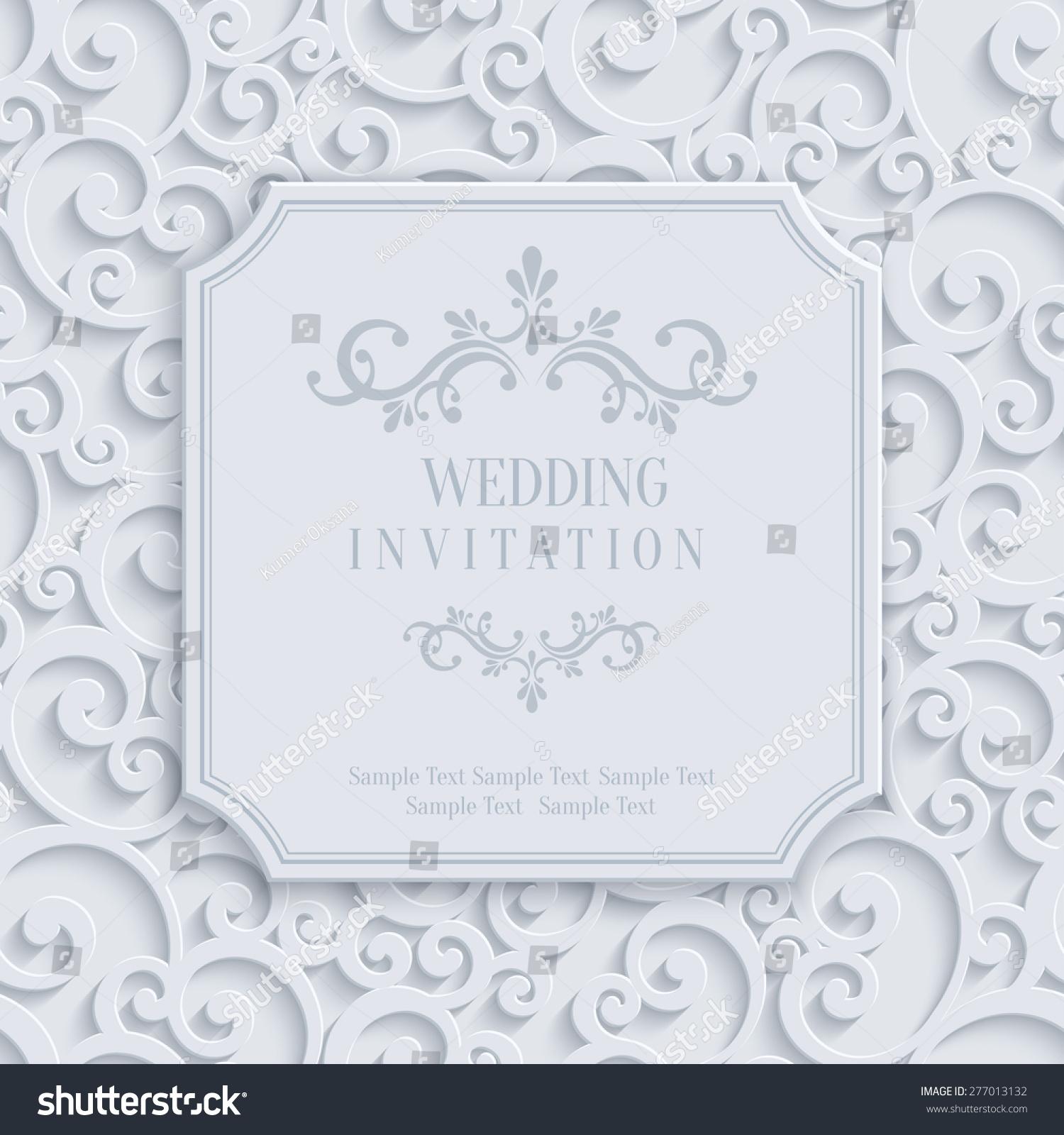 Vector 3d curl wedding invitation greeting stock vector 277013132 vector 3d curl wedding invitation greeting stock vector 277013132 shutterstock stopboris Choice Image