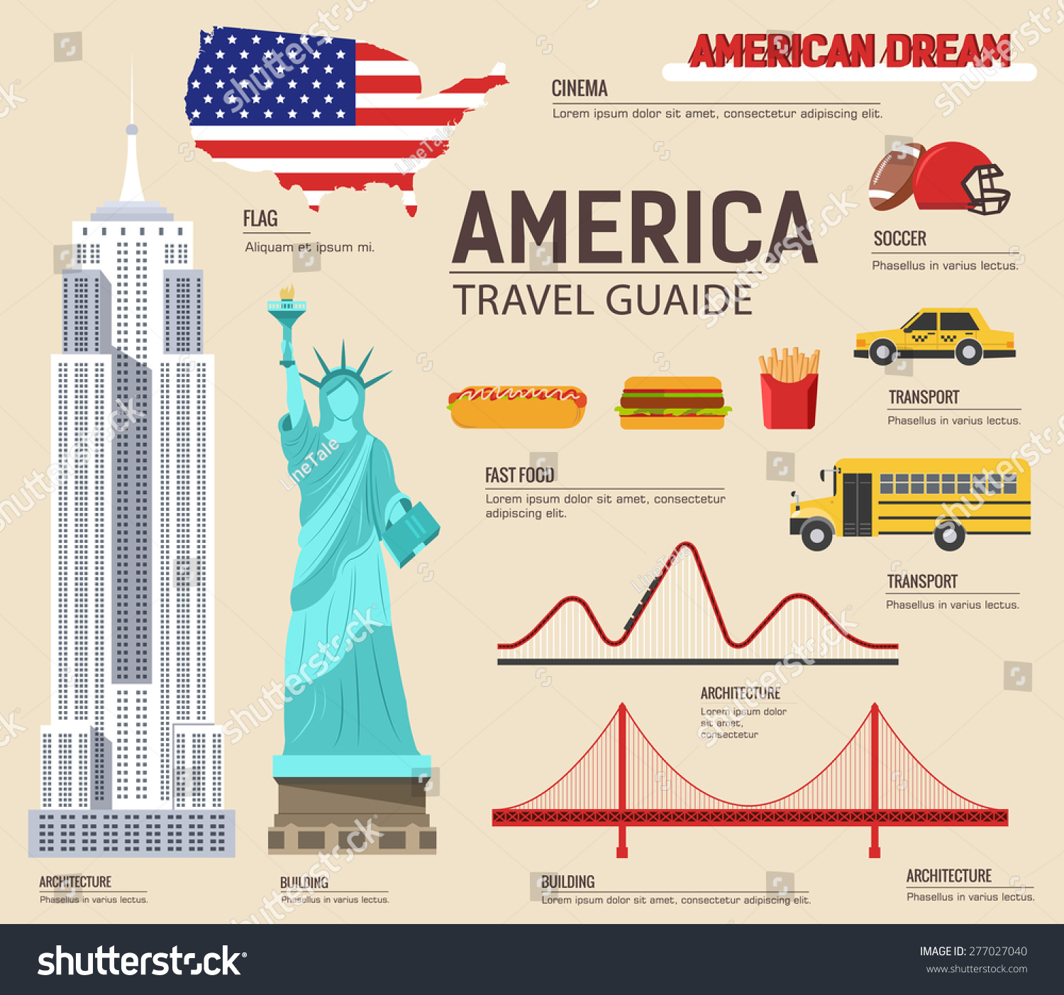 Country Free Goods Usa Vacation 277027040 Vector Stock Travel Guide royalty