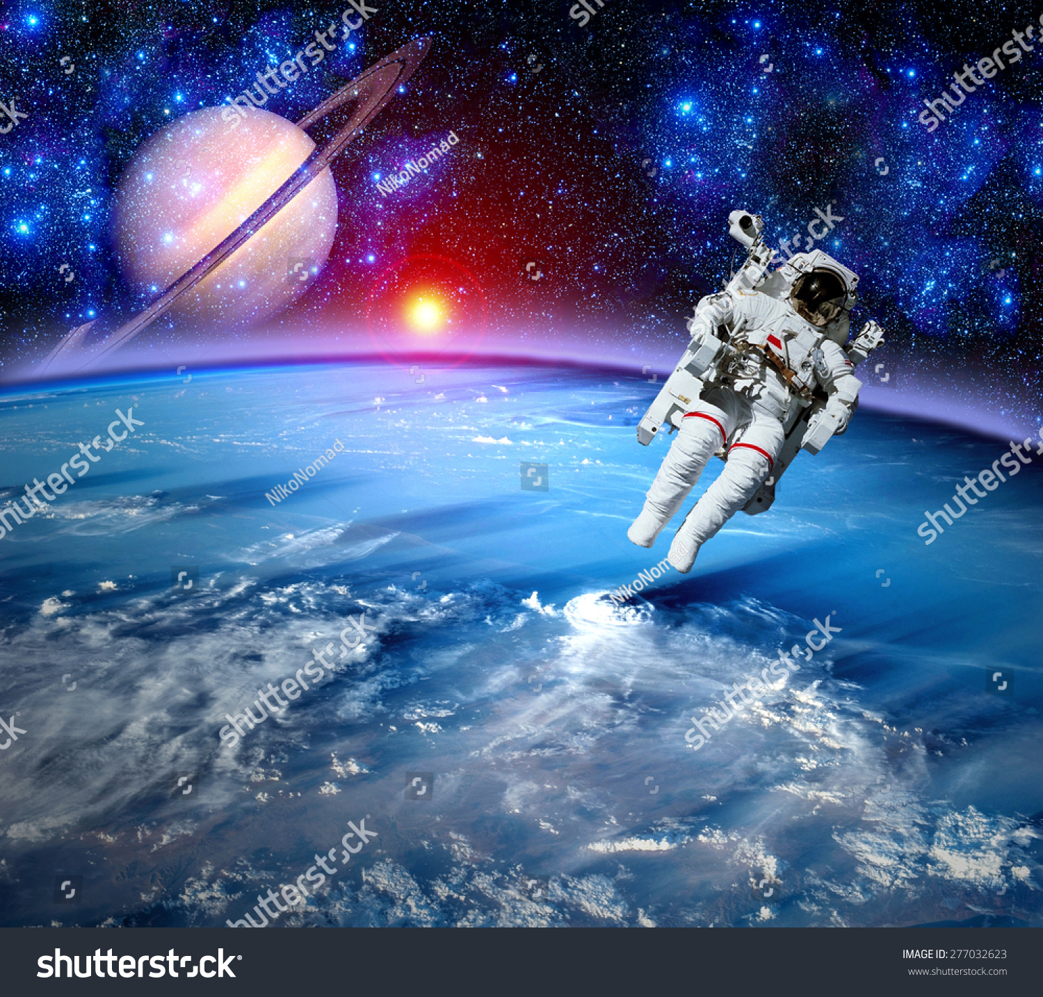 astronaut the outer space appears - photo #18