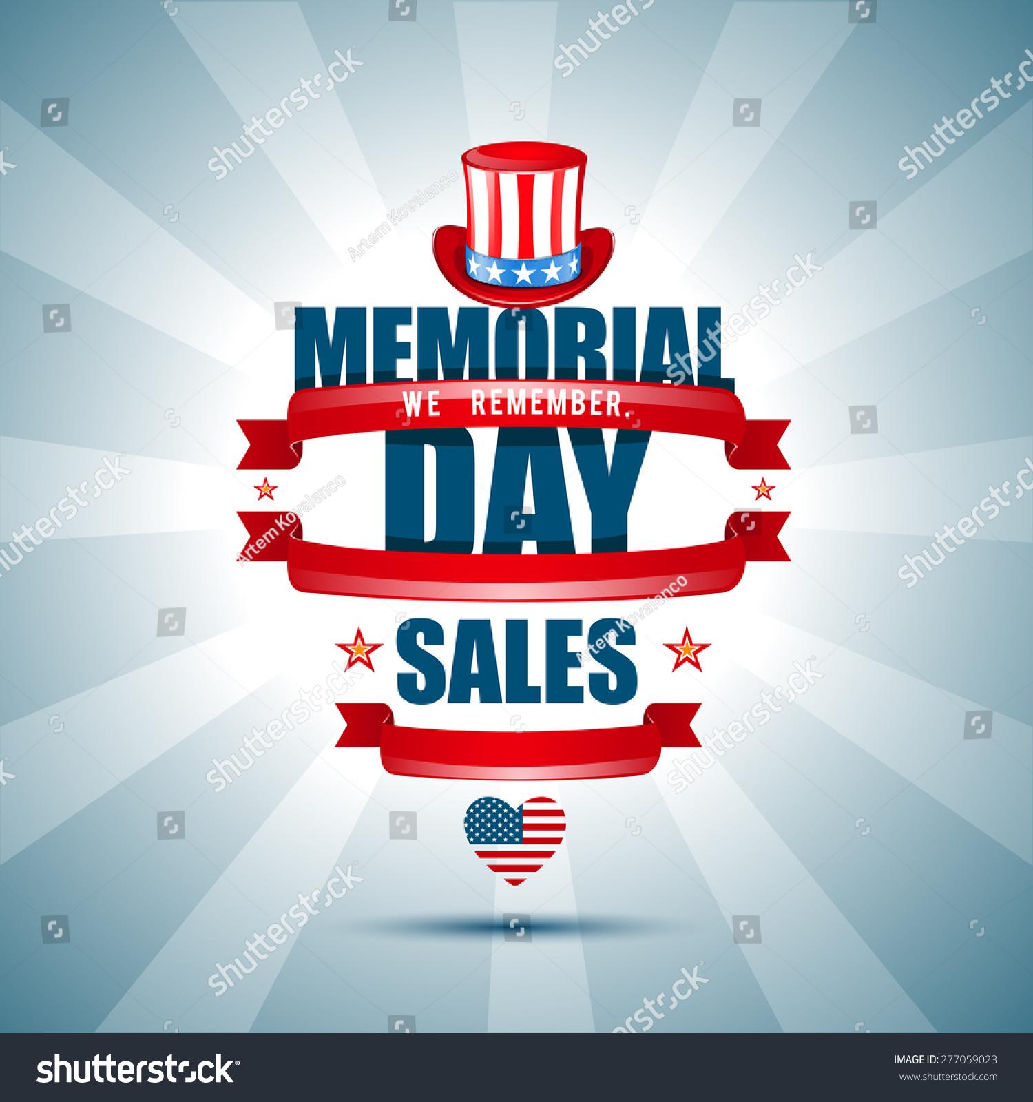 Vector Illustration On Memorial Day We Stock Vector 277059023