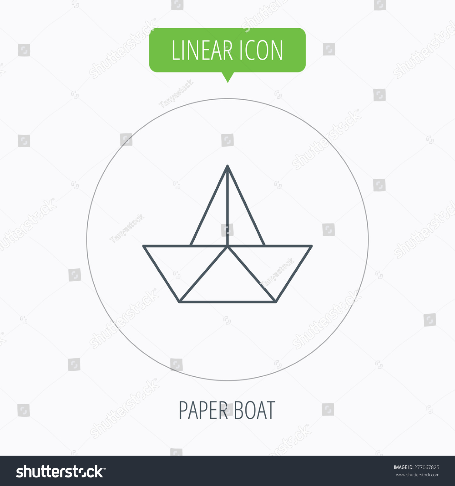 Paper boat icon origami ship sign stock vector 277067825 paper boat icon origami ship sign sailing symbol linear outline circle button buycottarizona