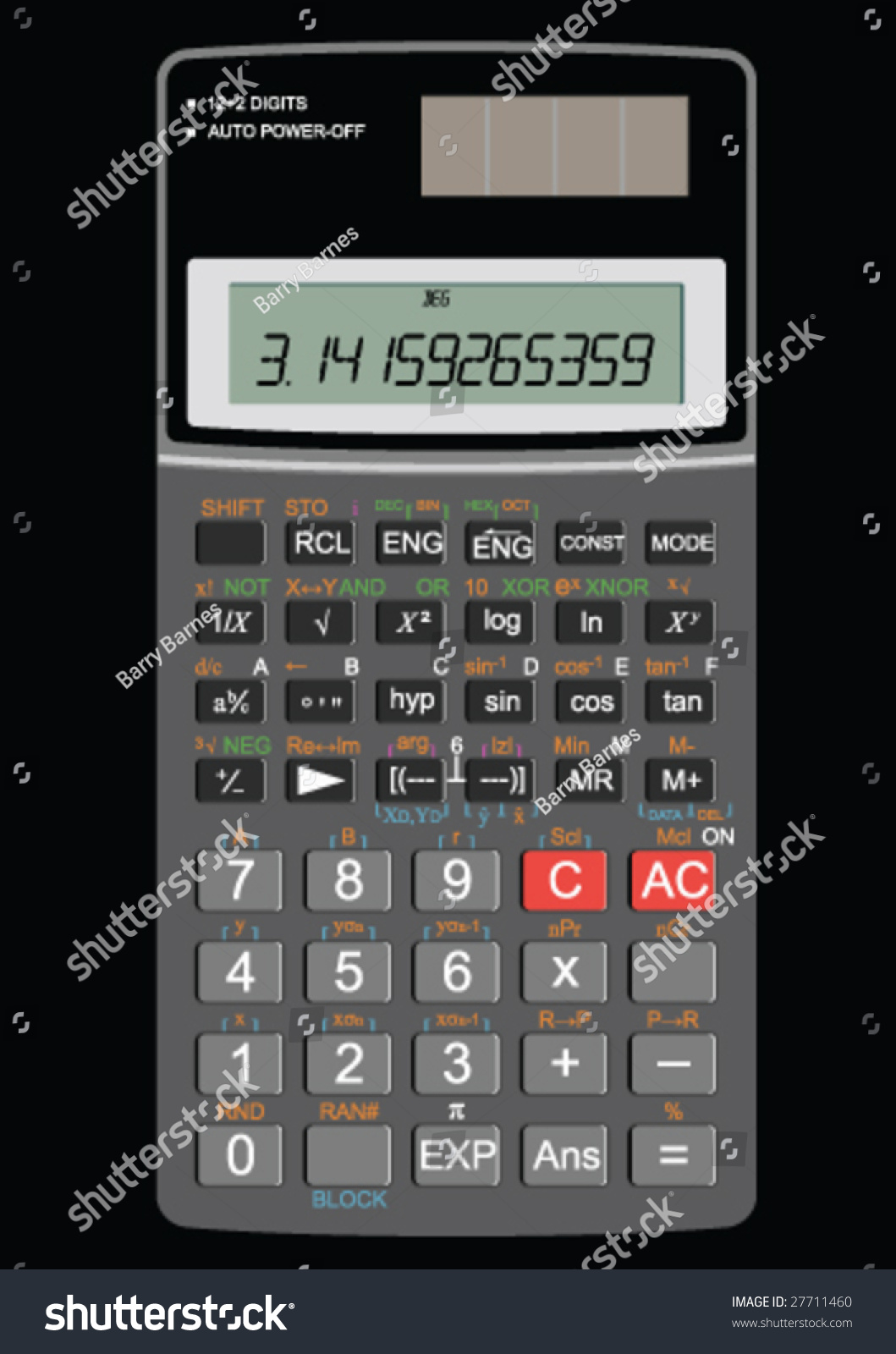 Scientific Calculator Showing Pi Stock Vector 27711460 - Shutterstock