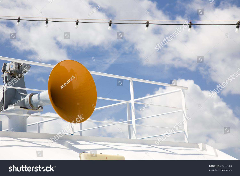 All Aboard...Cruise Ship Horn Stock Photo 27713113 ...