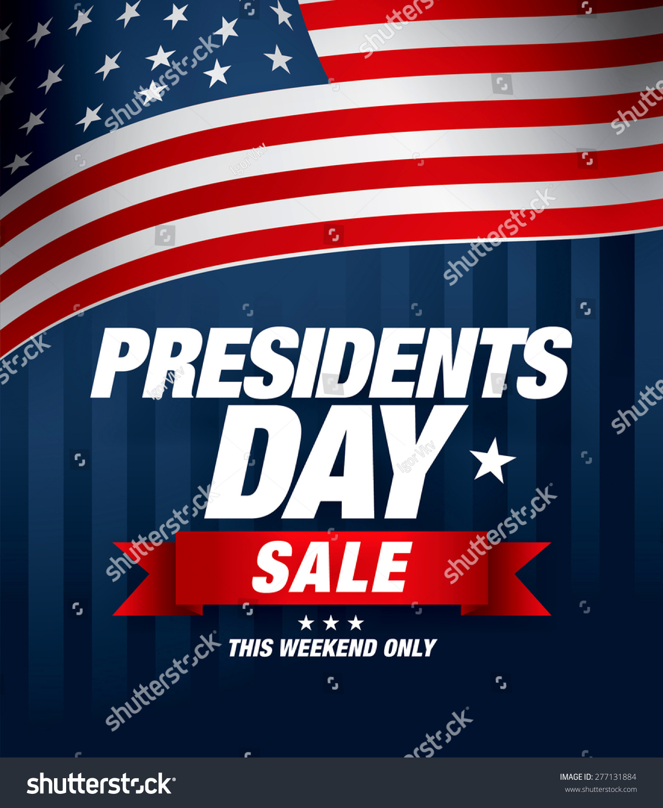 Presidents Day Sale Stock Vector 277131884 Shutterstock