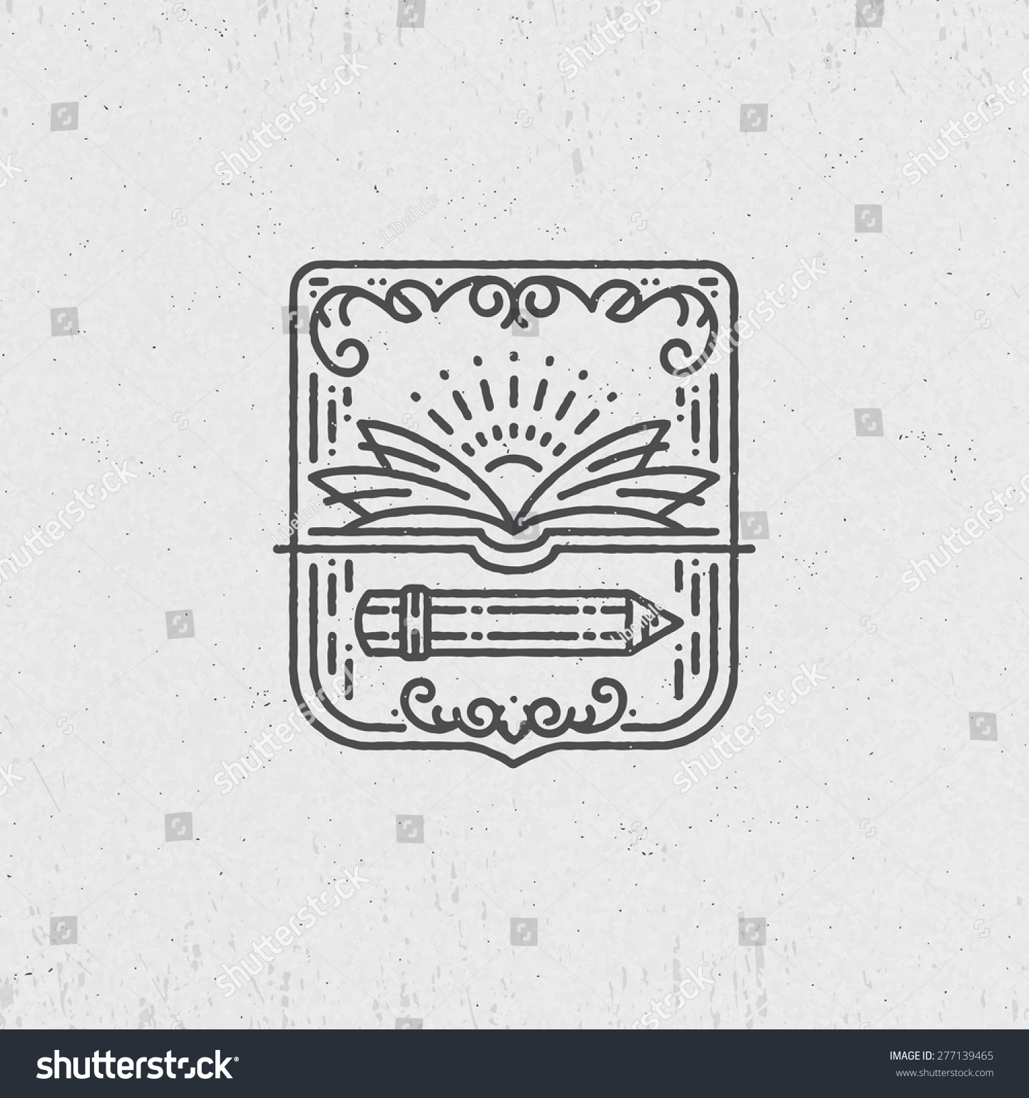 Lineart symbol knowledge education school art stock vector lineart symbol for knowledge education school art graphical logo label biocorpaavc Image collections