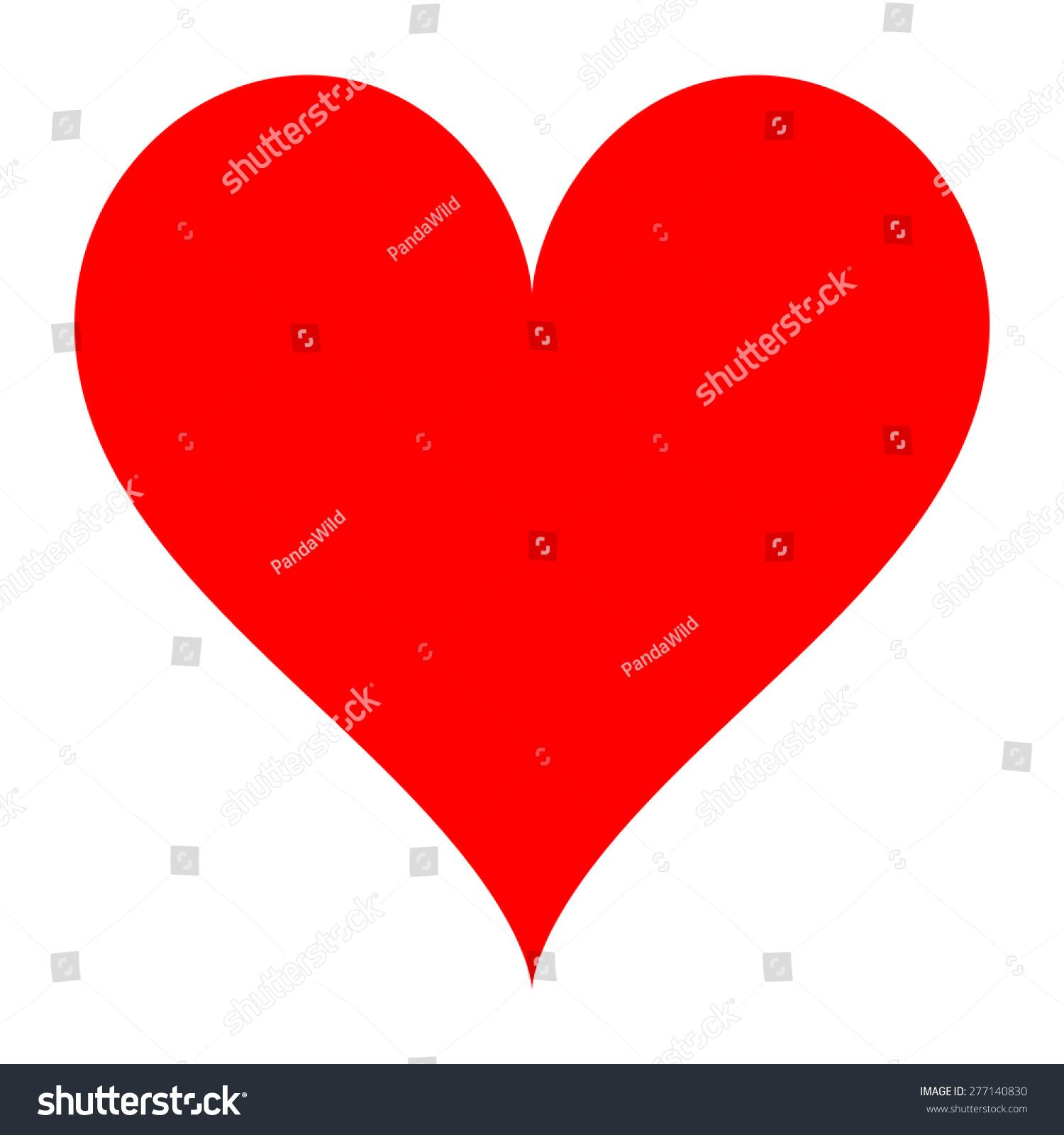 Valentine Heart Shape Template Stock Illustration 277140830