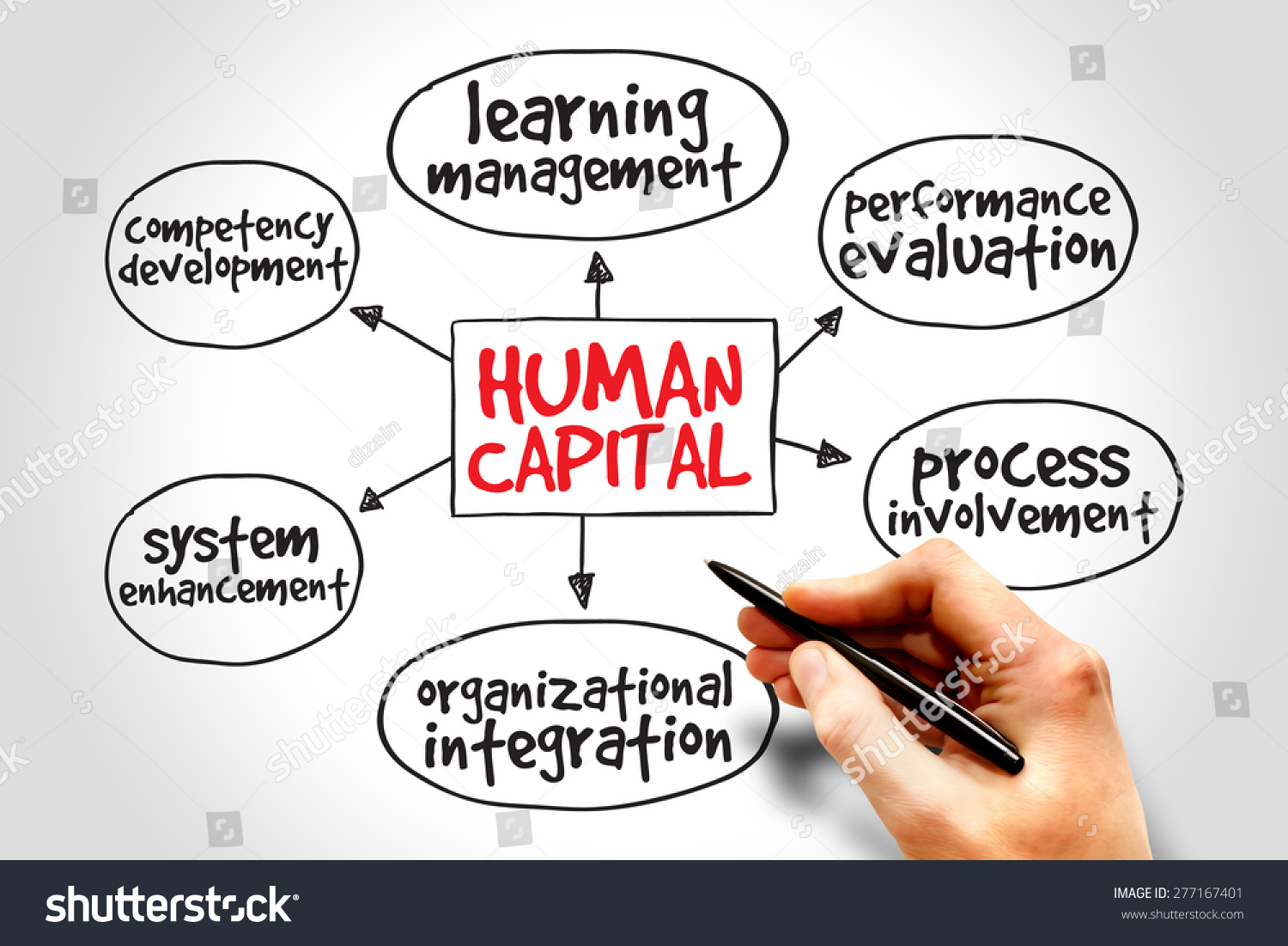 Human Capital Mind Map Business Management Stock Photo ...