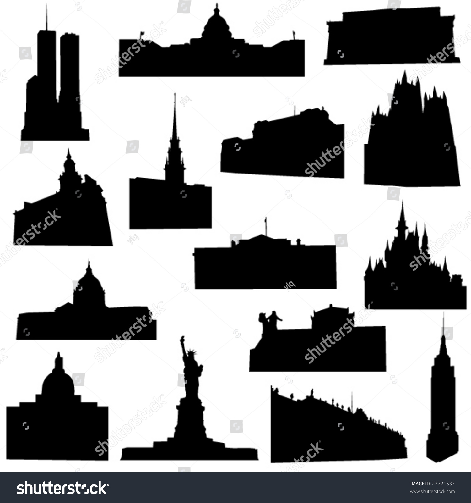 well known america architecture stock vector 27721537