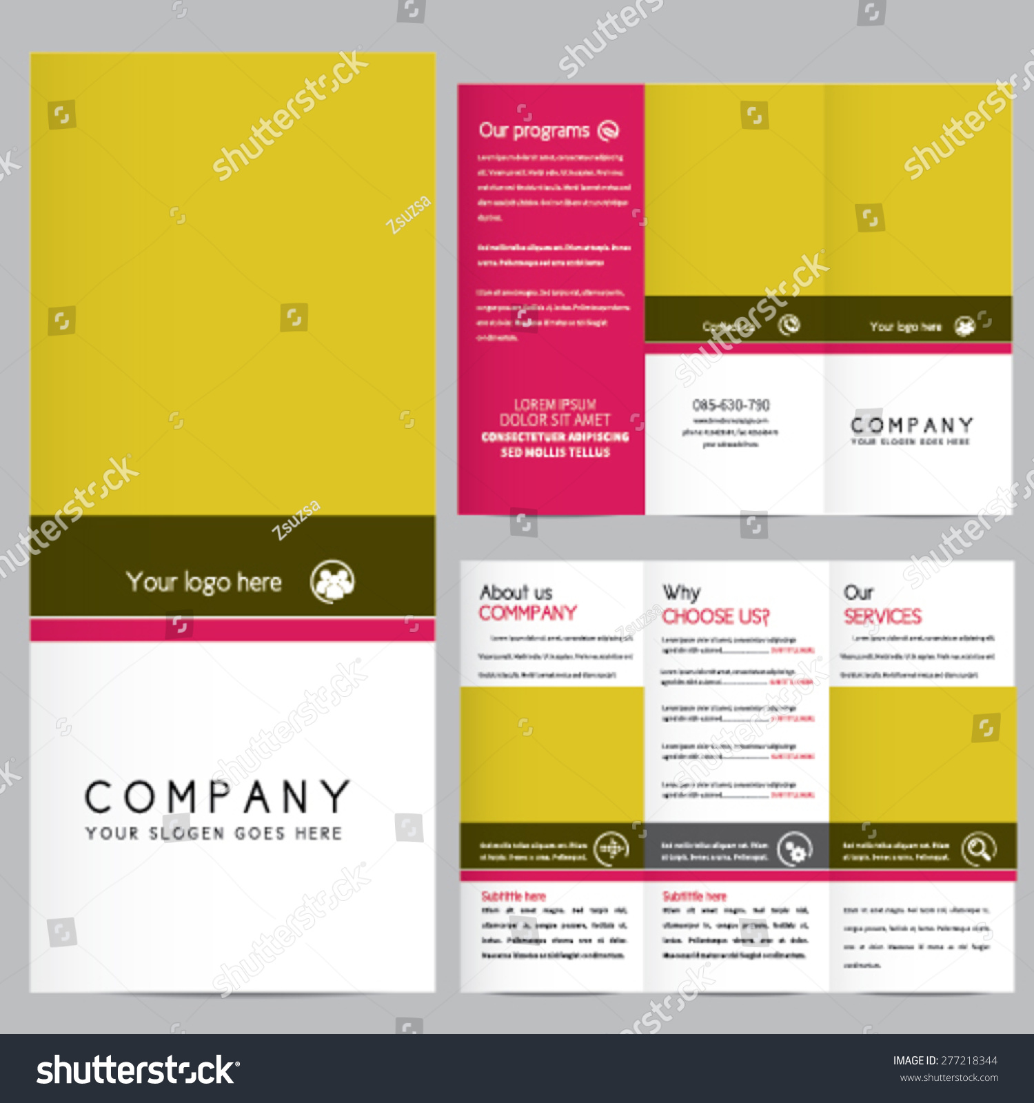 Elegant business brochure template stock vector 277218344 for Elegant brochure templates