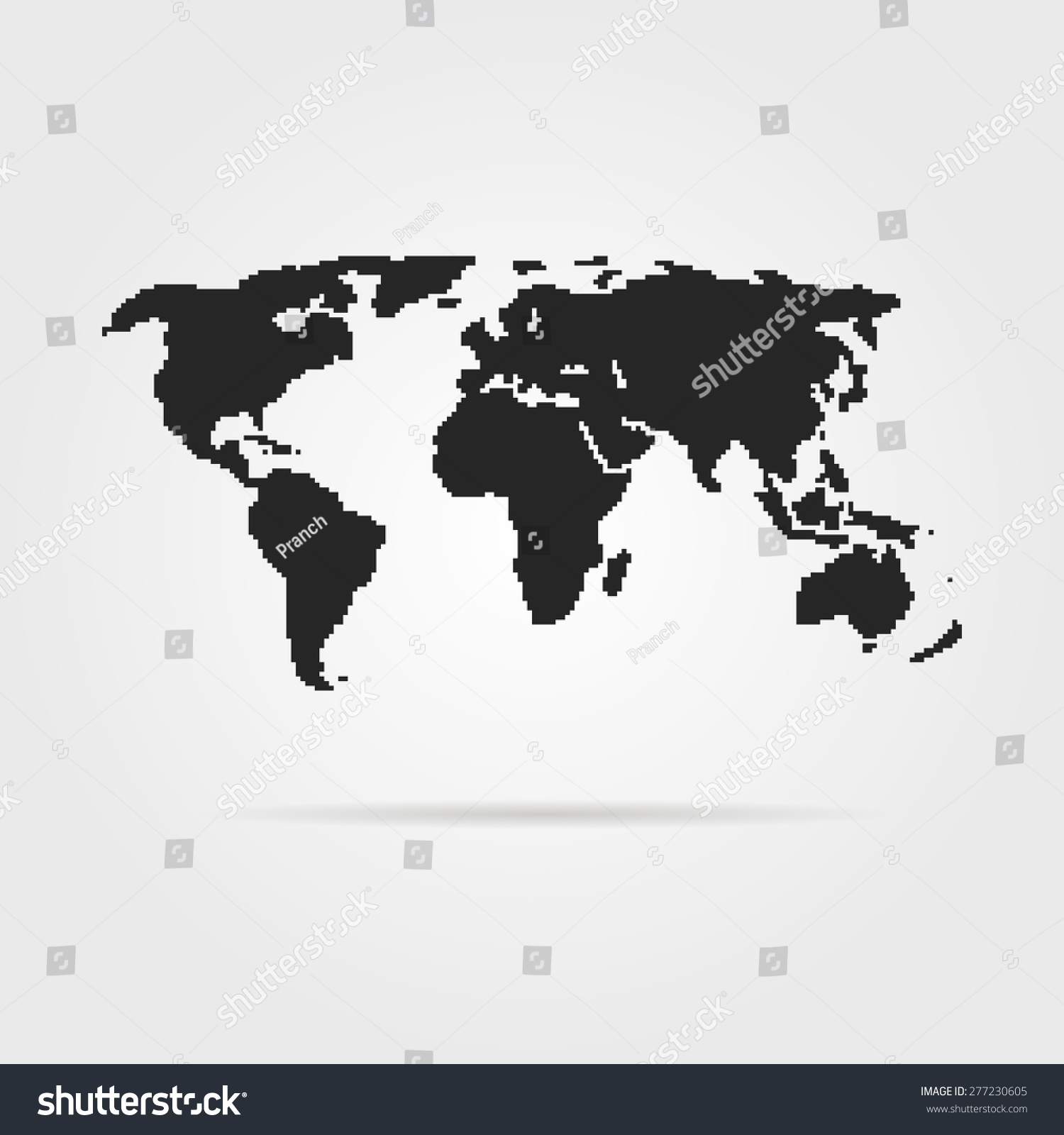 Black pixel art world map shadow vectores en stock 277230605 black pixel art world map with shadow concept of 8bit videogame graphic wallpaper gumiabroncs Image collections