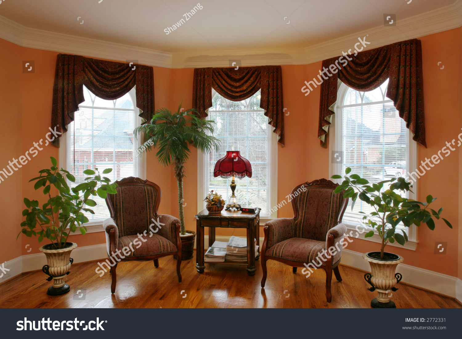 living room with bay window stock photo 2772331 shutterstock