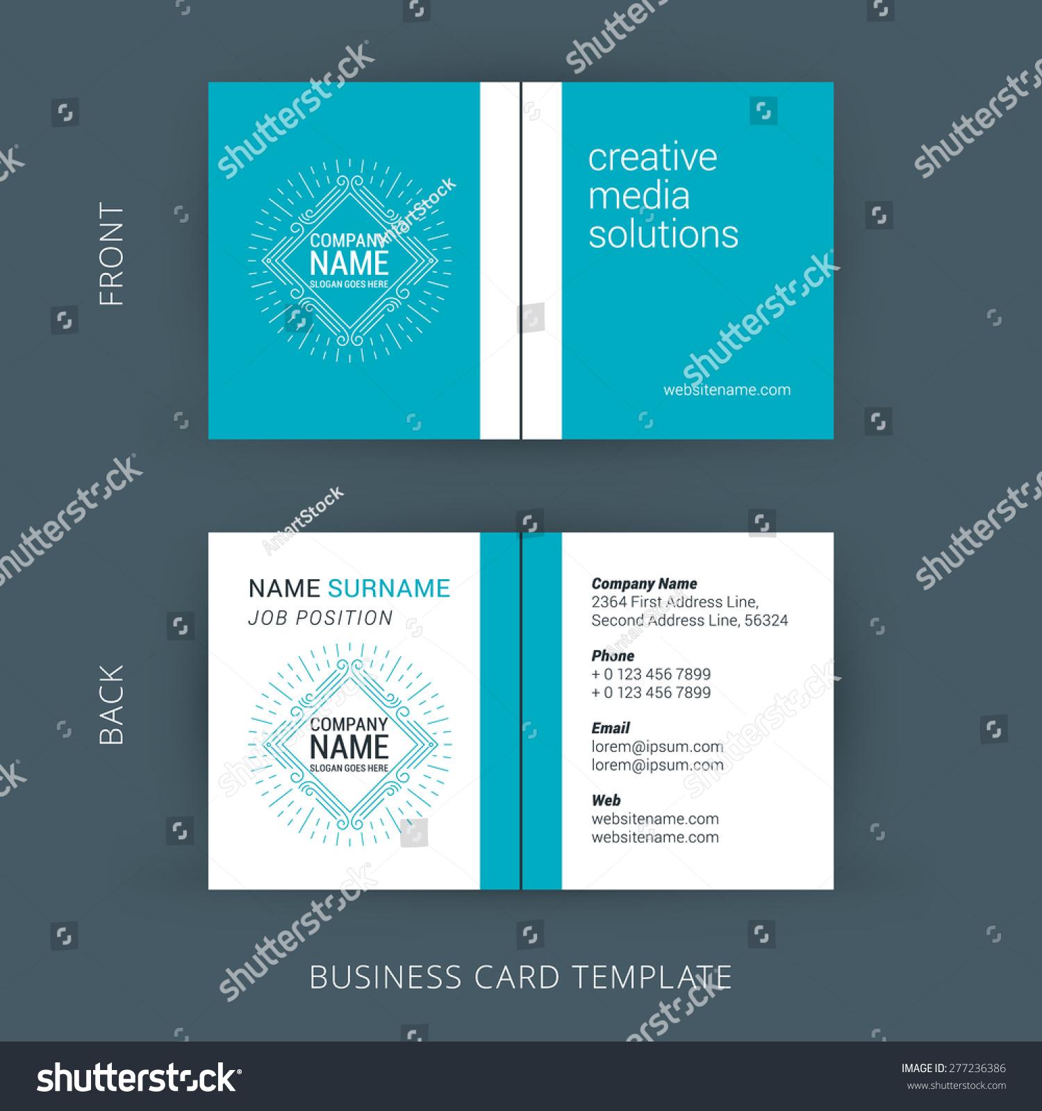 Vector Creative Business Card Template Line Stock Vector 277236386 ...