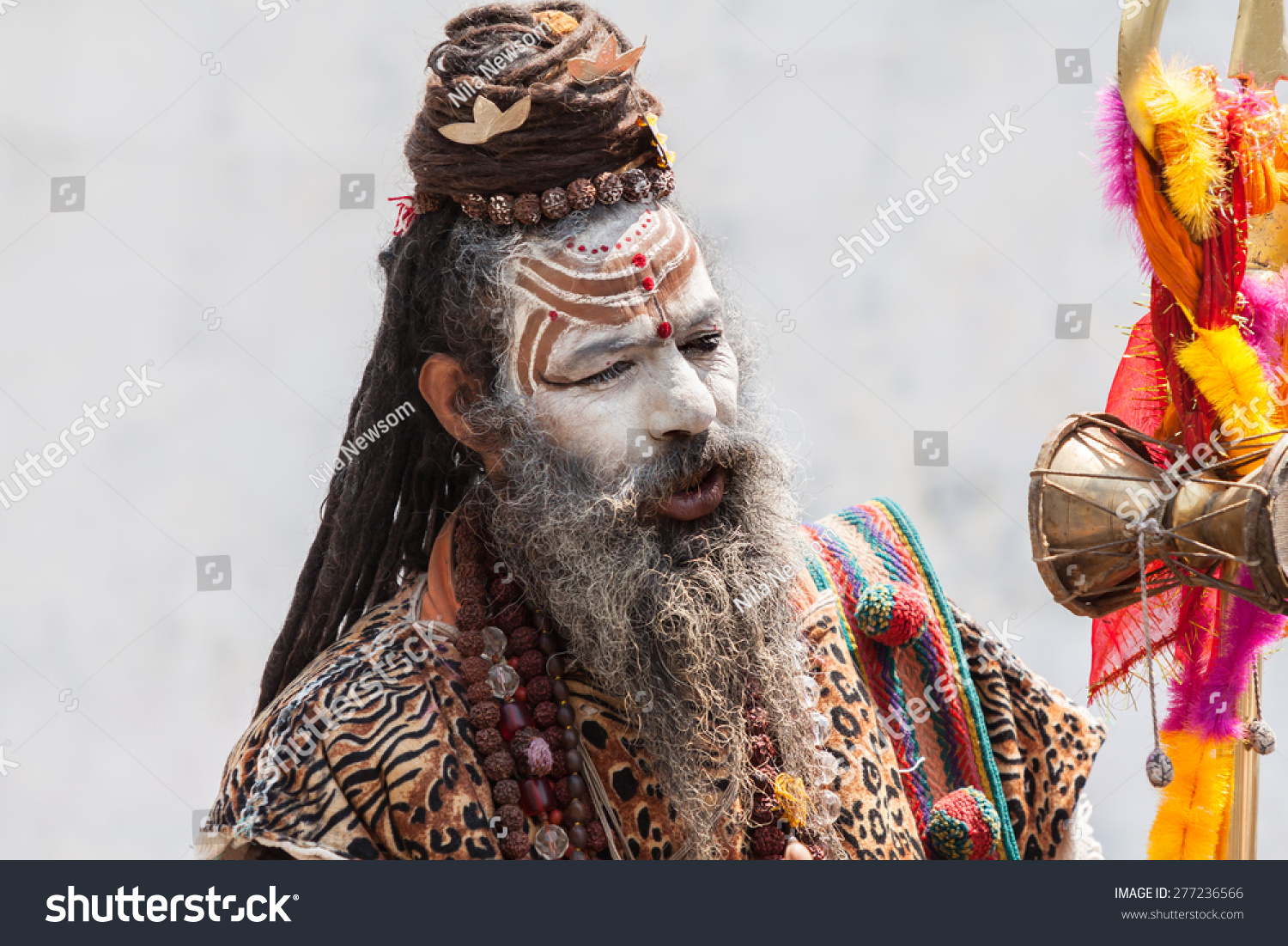 Kedarnath India  city photos : KEDARNATH, INDIA JUNE 1 2013 A naga sadhu at the shrine of ...