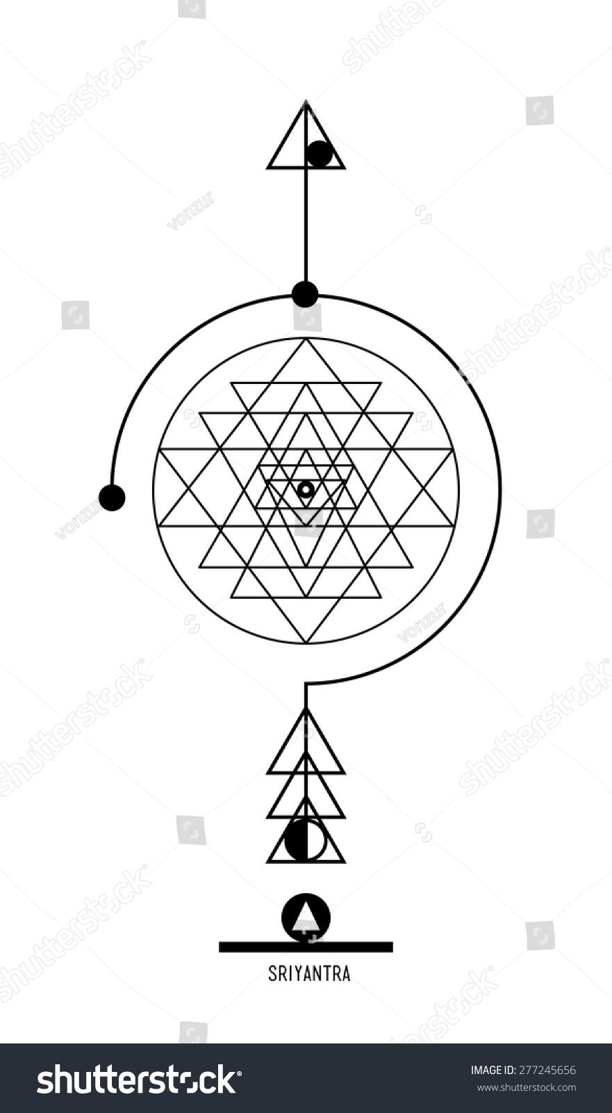 Sri yantra buddhist hindu tantric symbol stock vector 277245656 buddhist hindu tantric symbol harmony and balance cosmos and the universe used biocorpaavc Images