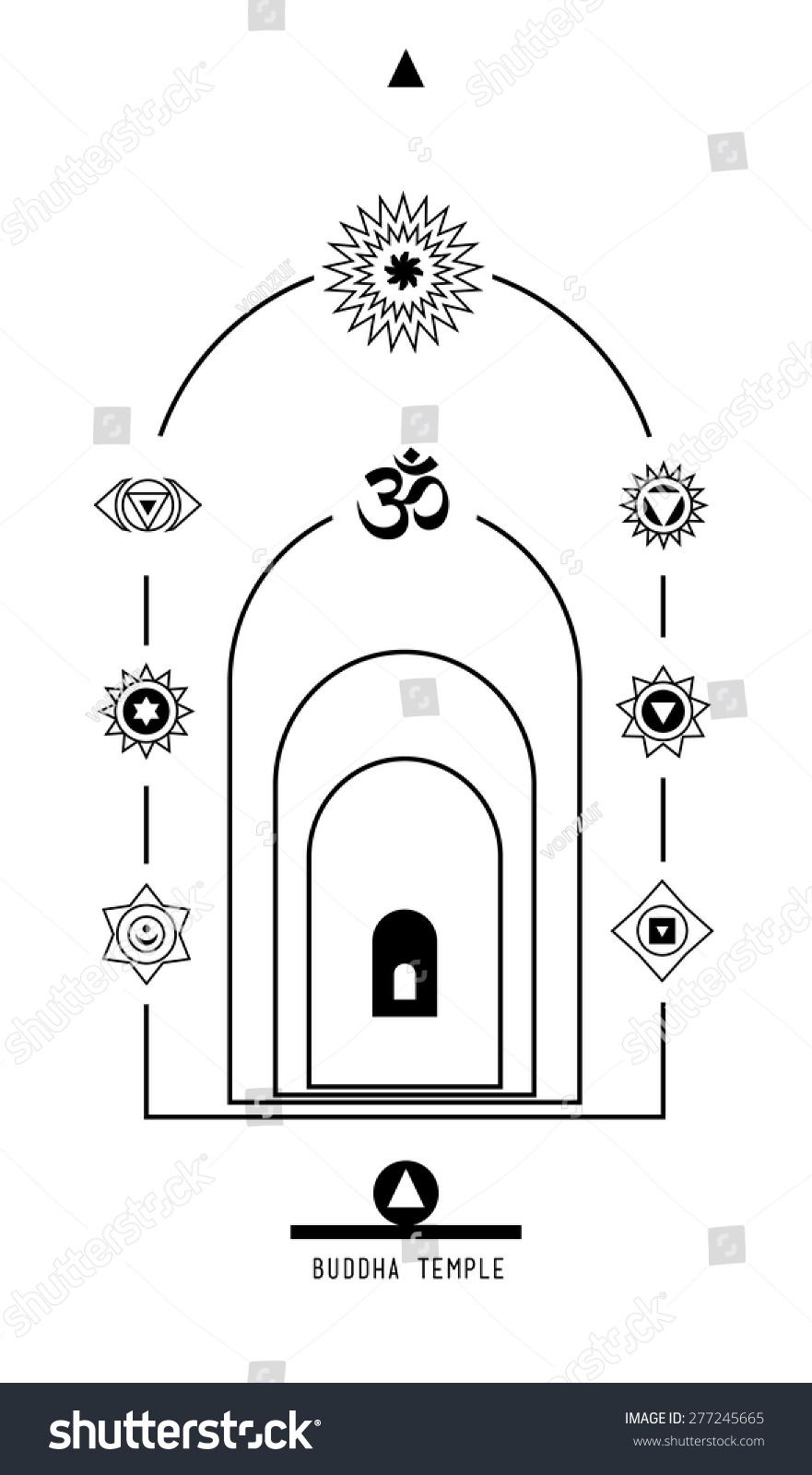 Buddha temple buddhist hindu tantric symbol stock vector 277245665 buddha temple buddhist hindu tantric symbol harmony and balance cosmos and the universe used biocorpaavc Images
