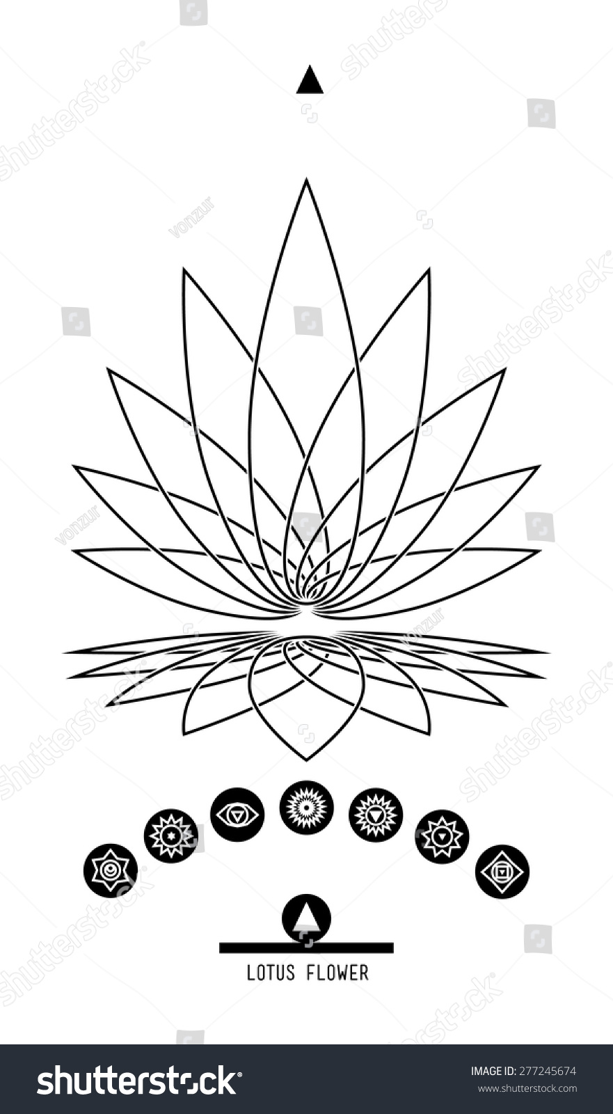 Royalty Free Lotus And Seven Chakras Buddhist Hindu 277245674